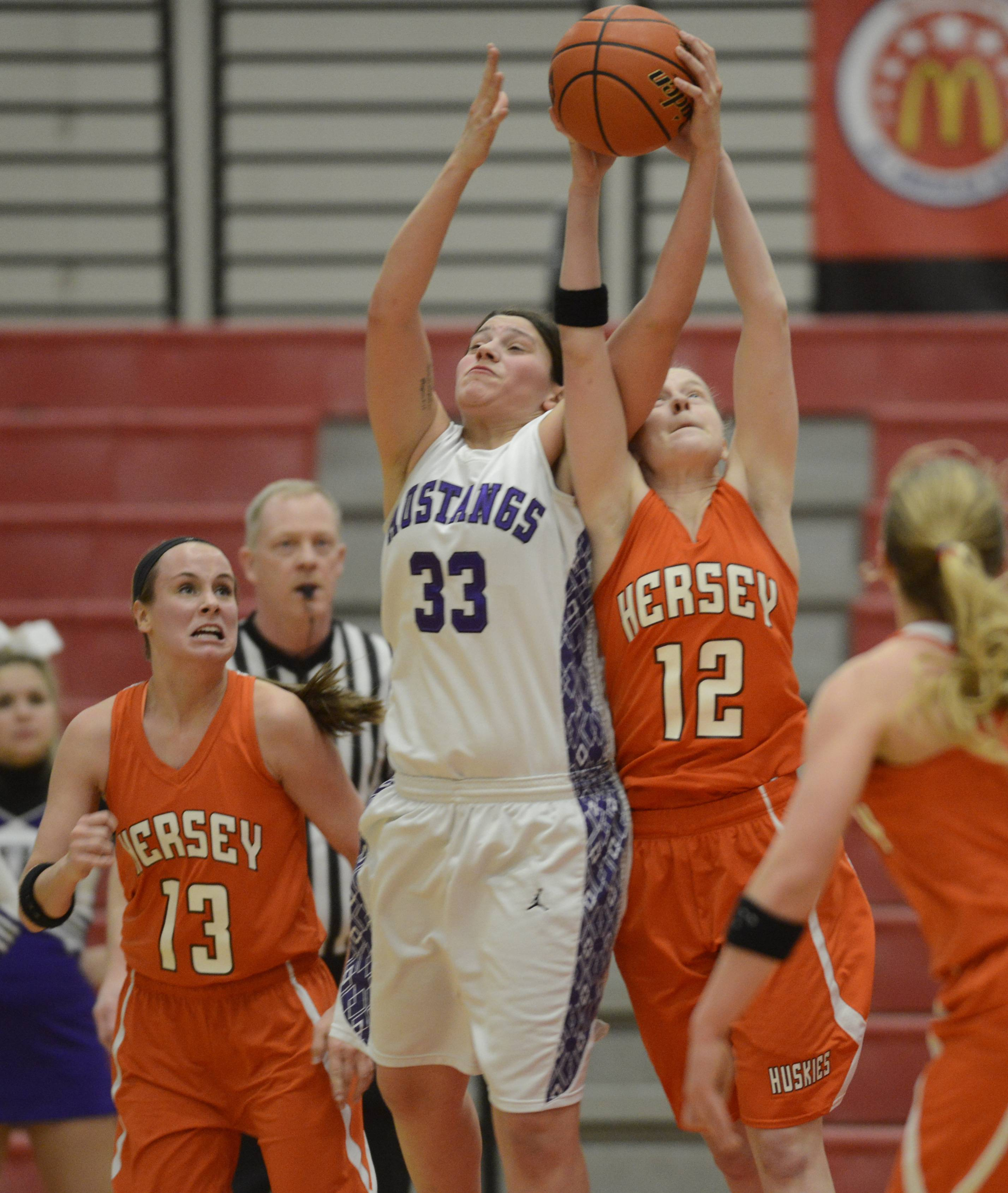 Images from the Rolling Meadows vs. Hersey IHSA Class 4A sectional semifinal girls basketball game on Tuesday, February 25 in Barrington.