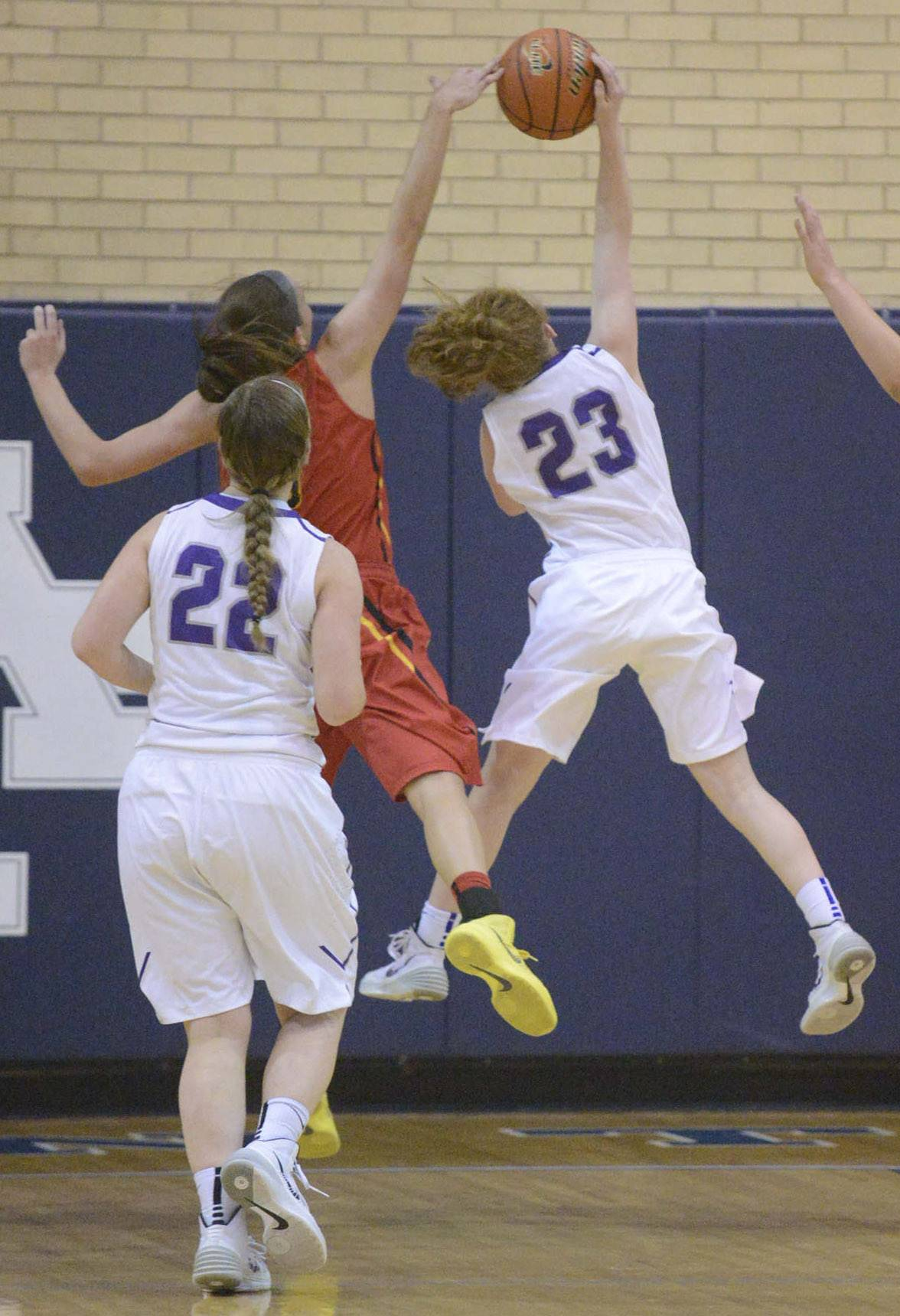 Images from the Batavia vs. Downers Grove North girls sectional semifinal basketball game Tuesday, February 25, 2014 in Addison.