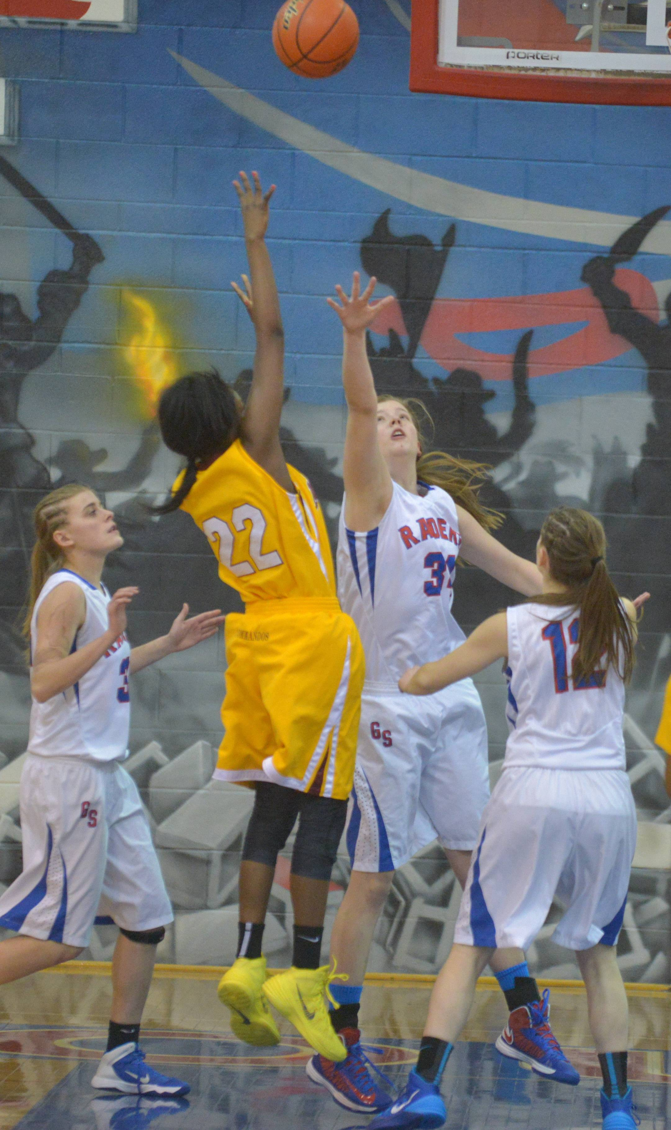 Glenbard South played Marshall at Glenbard South Tuesday, Feb. 25 in a Class 3A girls basketball sectional semifinal game.