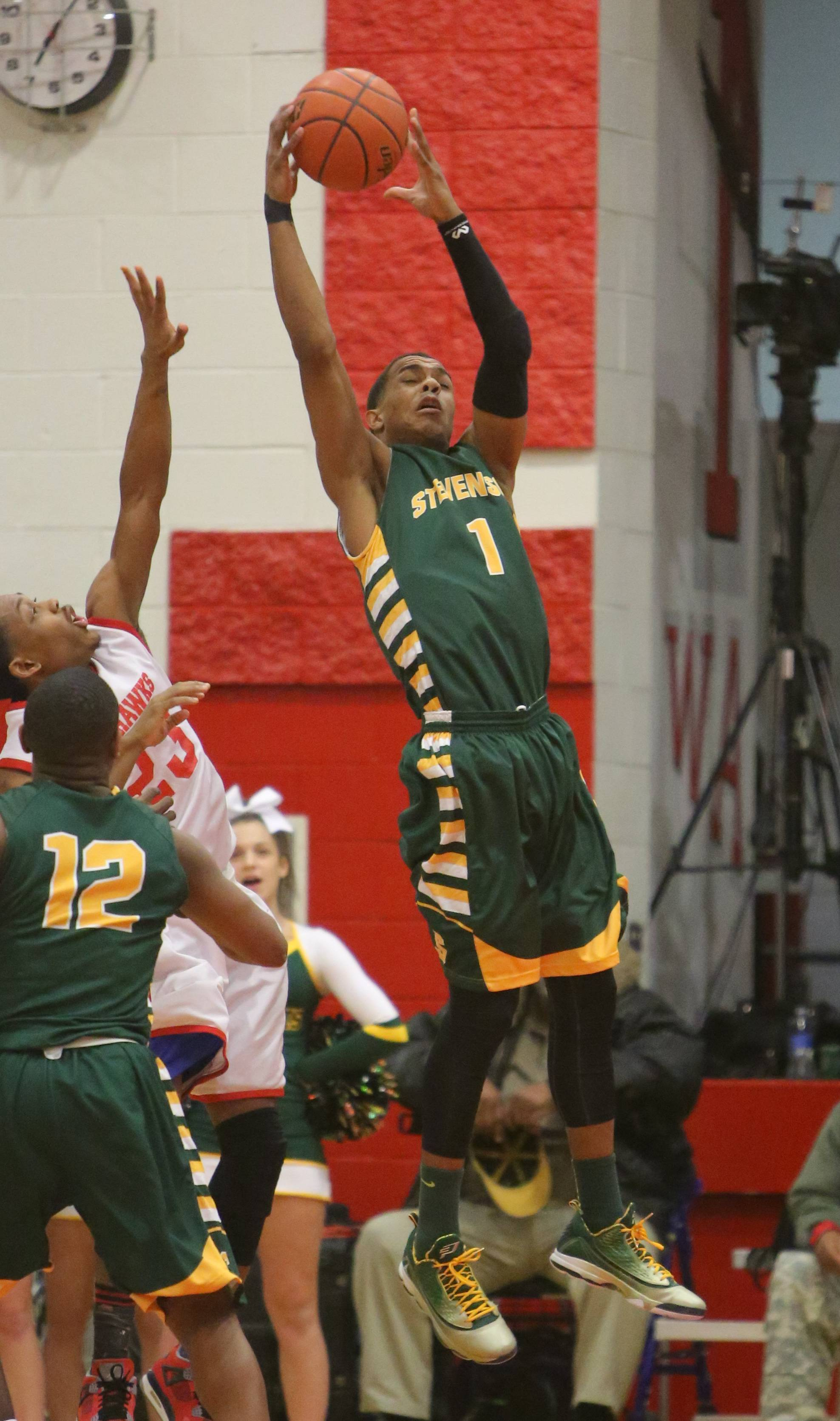 Images from the Stevenson vs. North Chicago boys basketball game on Wednesday, February 26 in North Chicago.