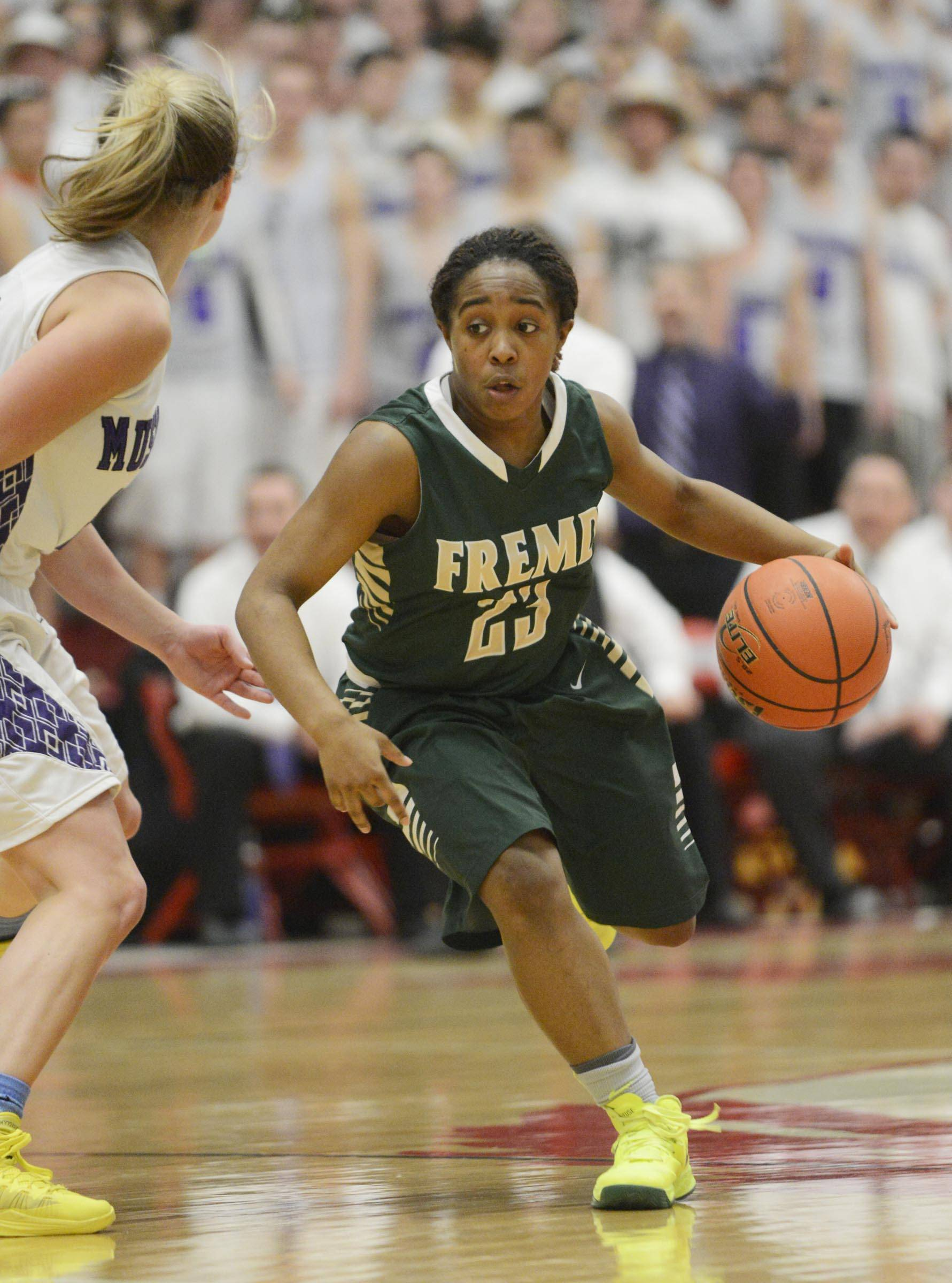 Images from the Fremd vs. Rolling Meadows girls sectional title game Thursday, February 27, 2014 in Barrington.