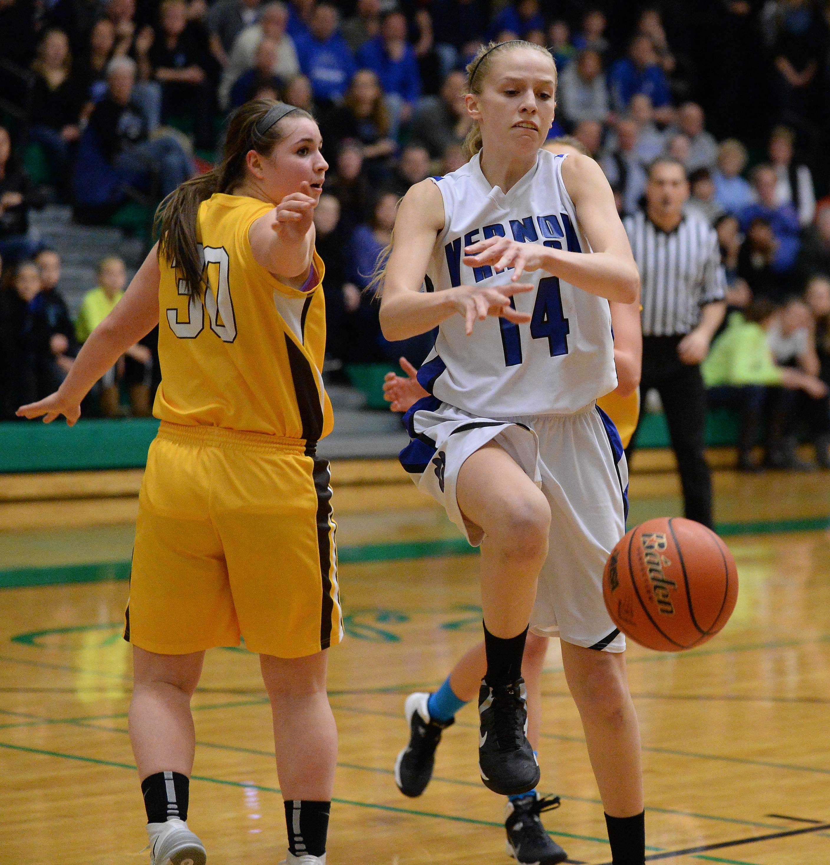 Images from the Vernon Hills vs. Carmel girls basketball game on Thursday, February 27 in Norridge.