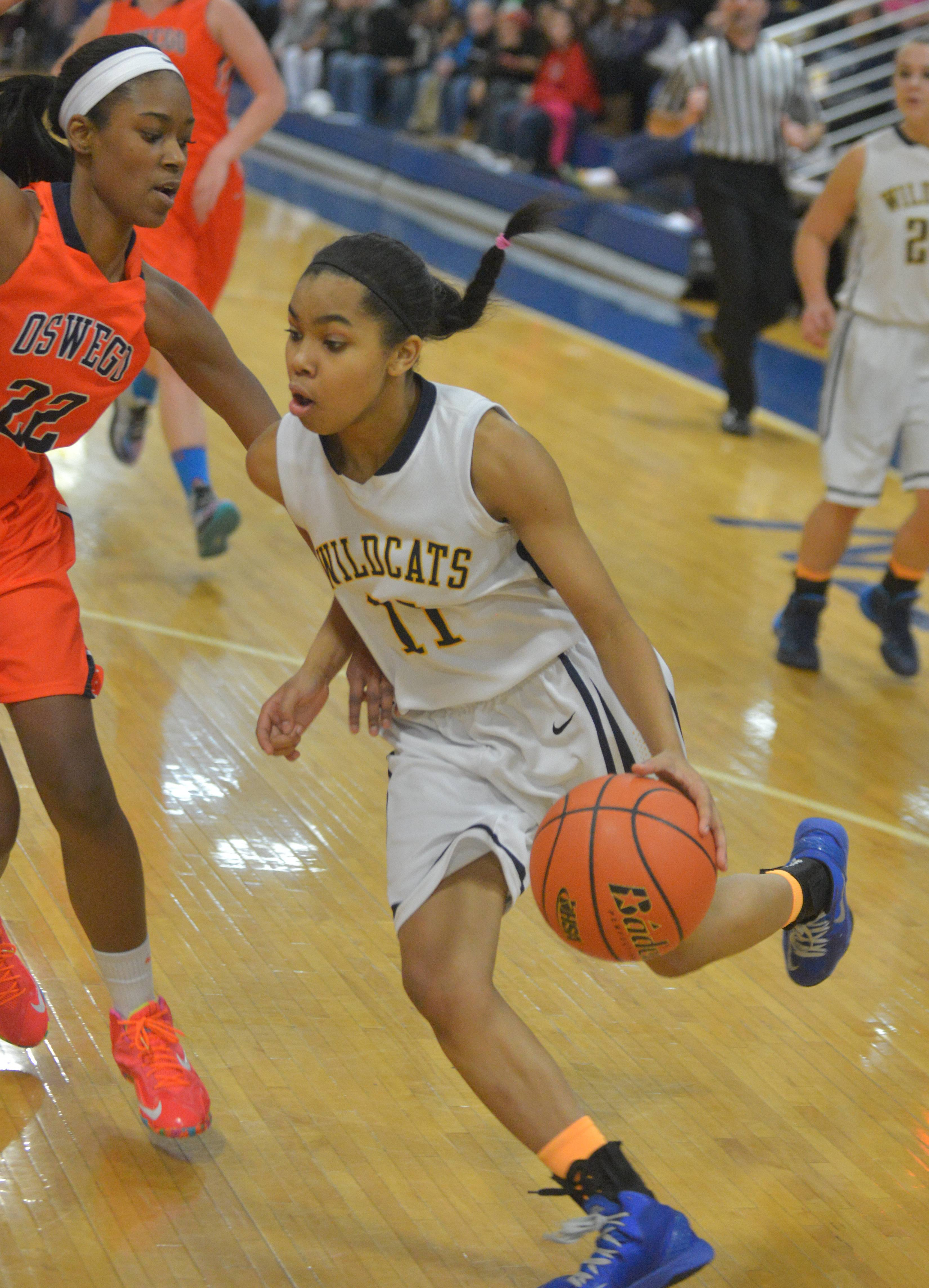 Neuqua Valley played Oswego in Class 4A sectional final girls basketball action at Joliet Central Thursday, Feb. 27.
