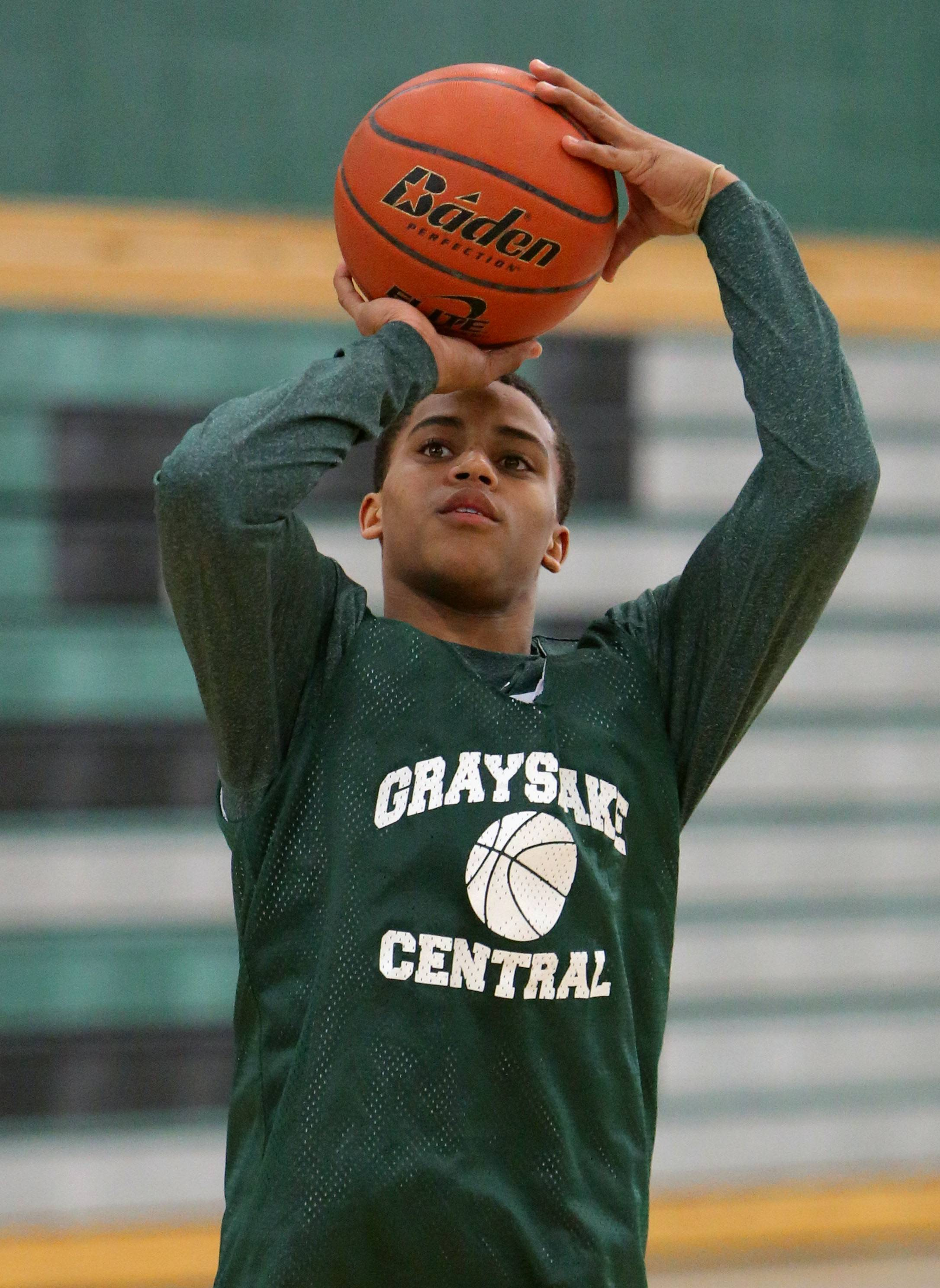 Grayslake Central's Malcolm Reed practices Wednesday.