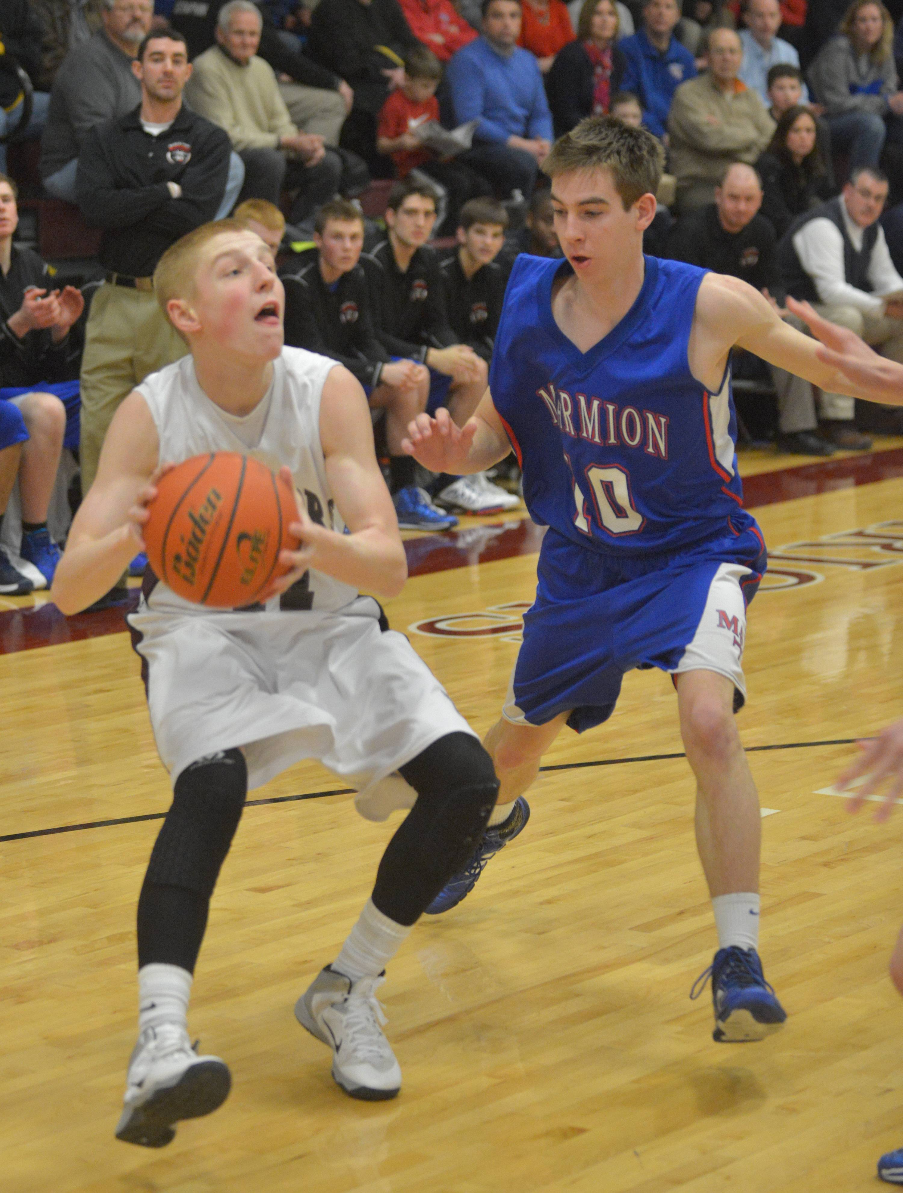 Images from the Wheaton Academy vs. Marmion Academy boys basketball game on Friday, Feb. 28, 2014.