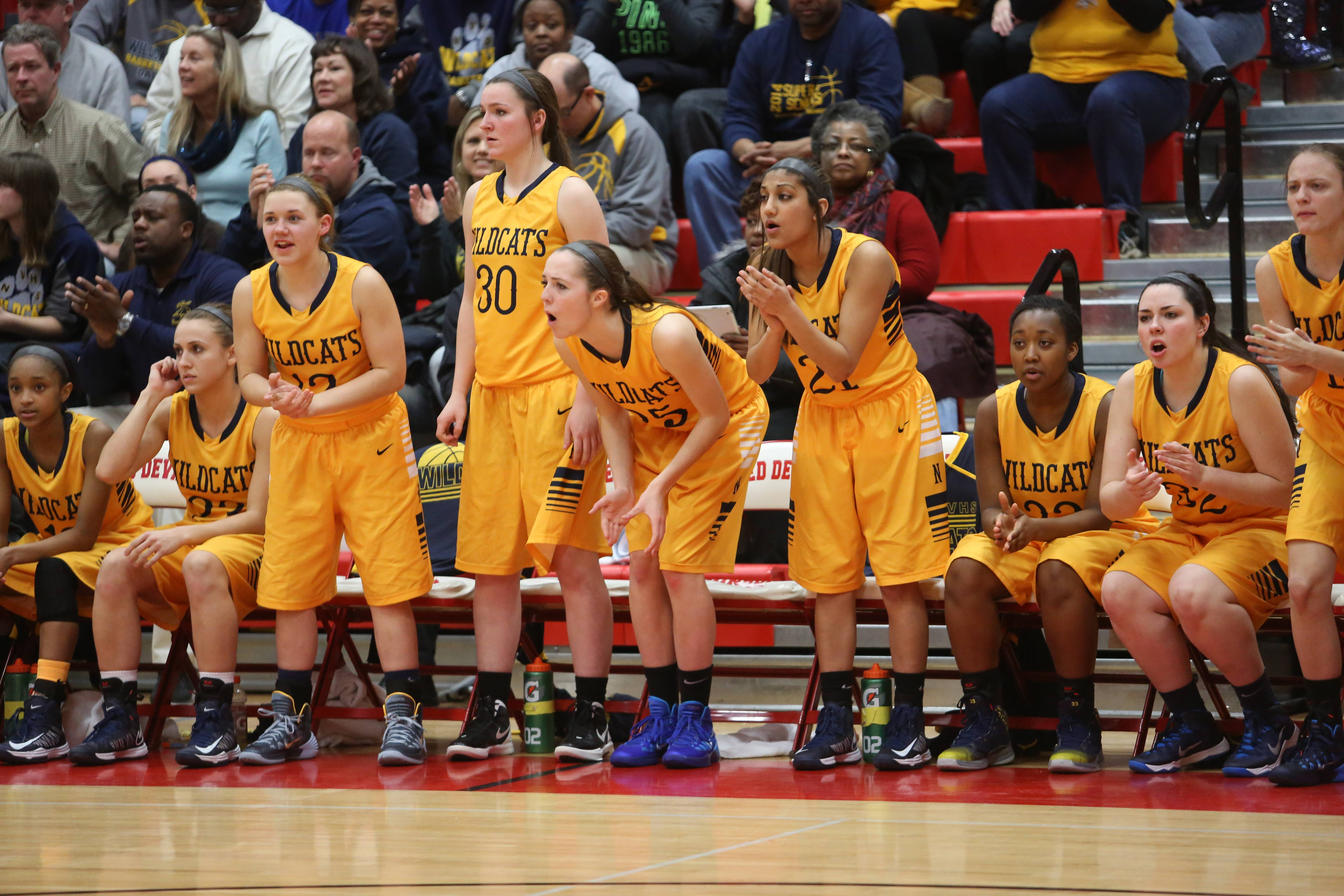 Neuqua Valley played Whitney Young in Class 4A girls basketball supersectional action at Hinsdale Central, Monday, March 3.