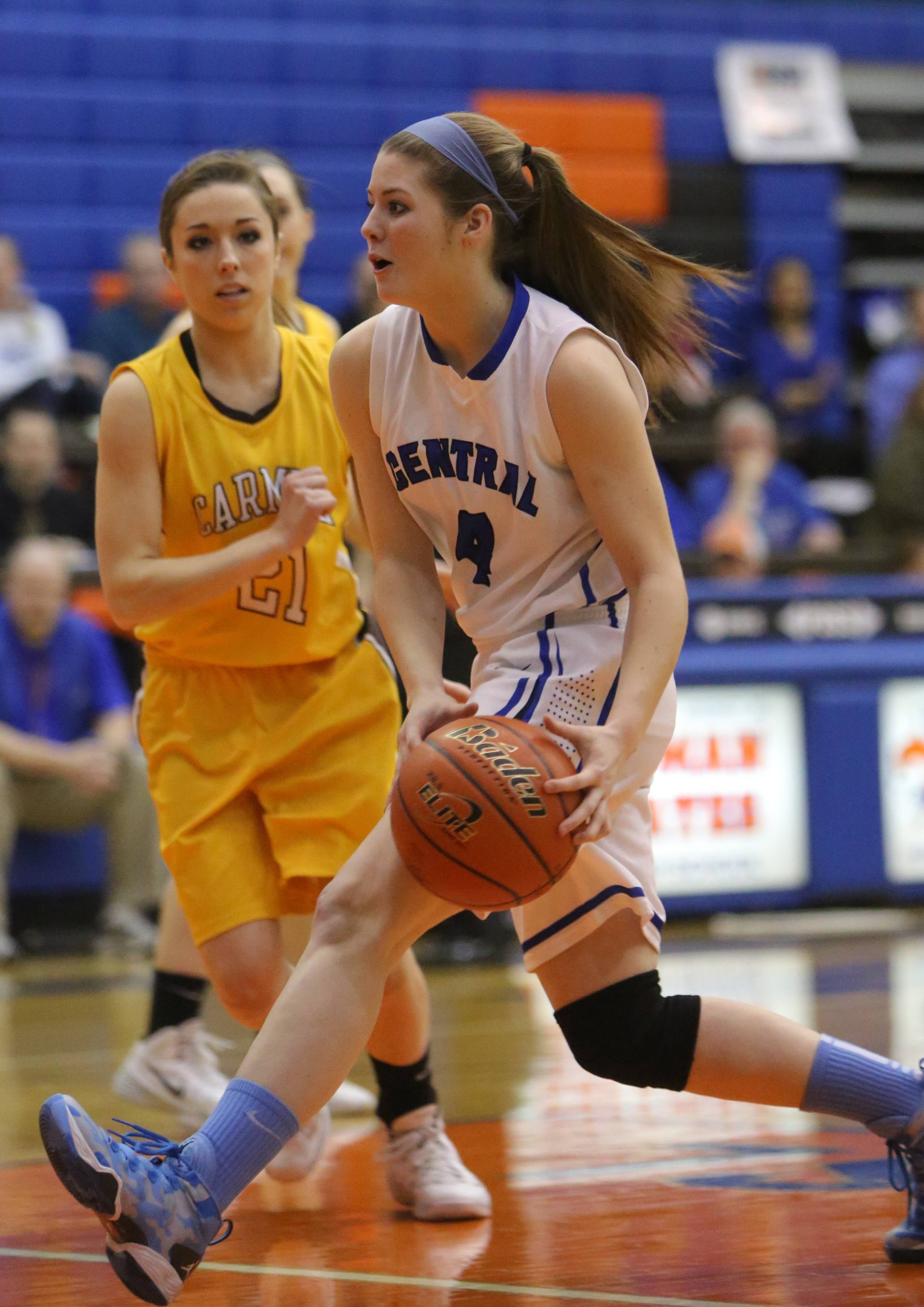 Images from the Carmel vs. Burlington Central girls basketball game on Monday, March 3 in Hoffman Estates.