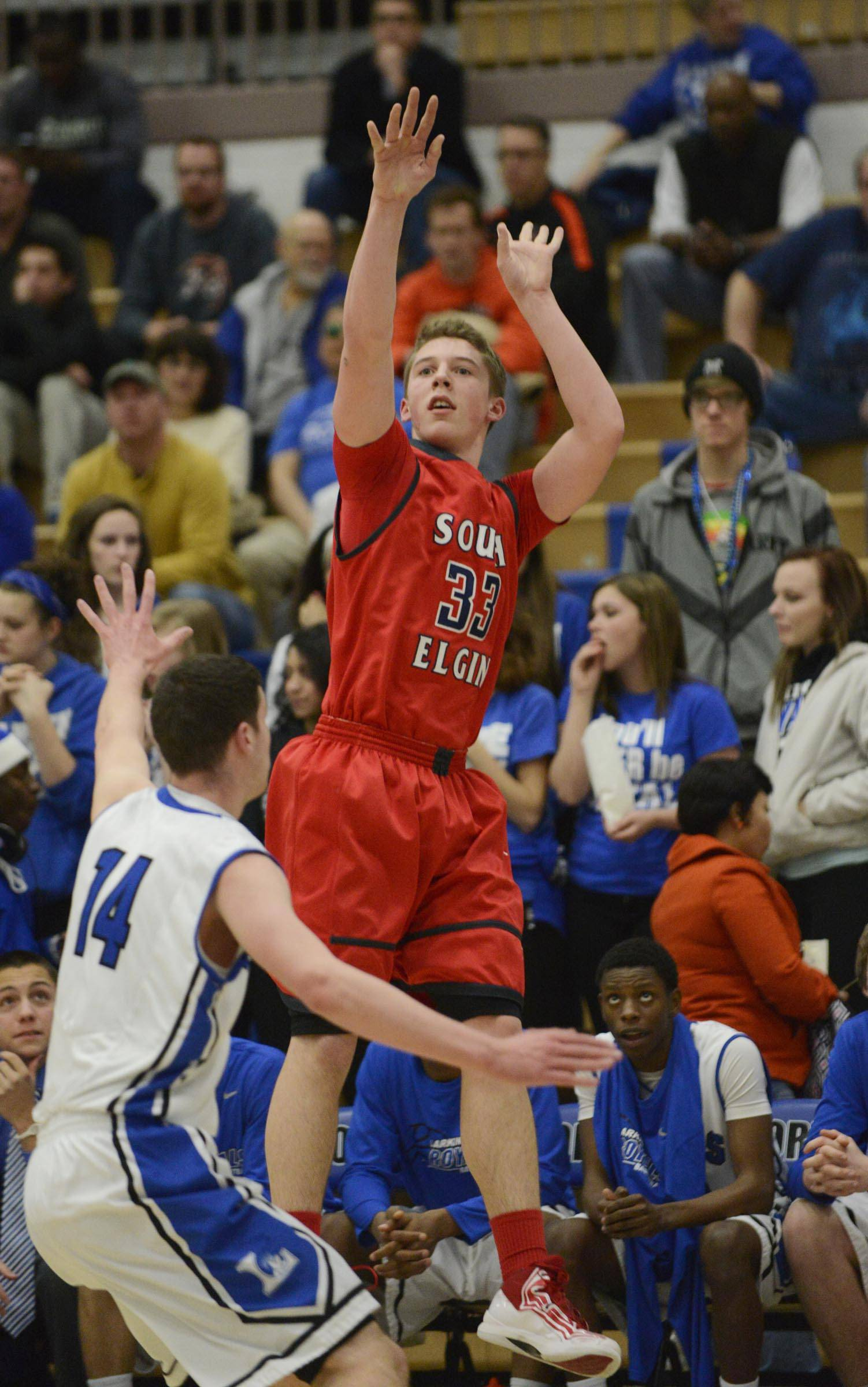 Images from the Larkin vs. South Elgin regional boys basketball matchup Tuesday, March 4, 2014.