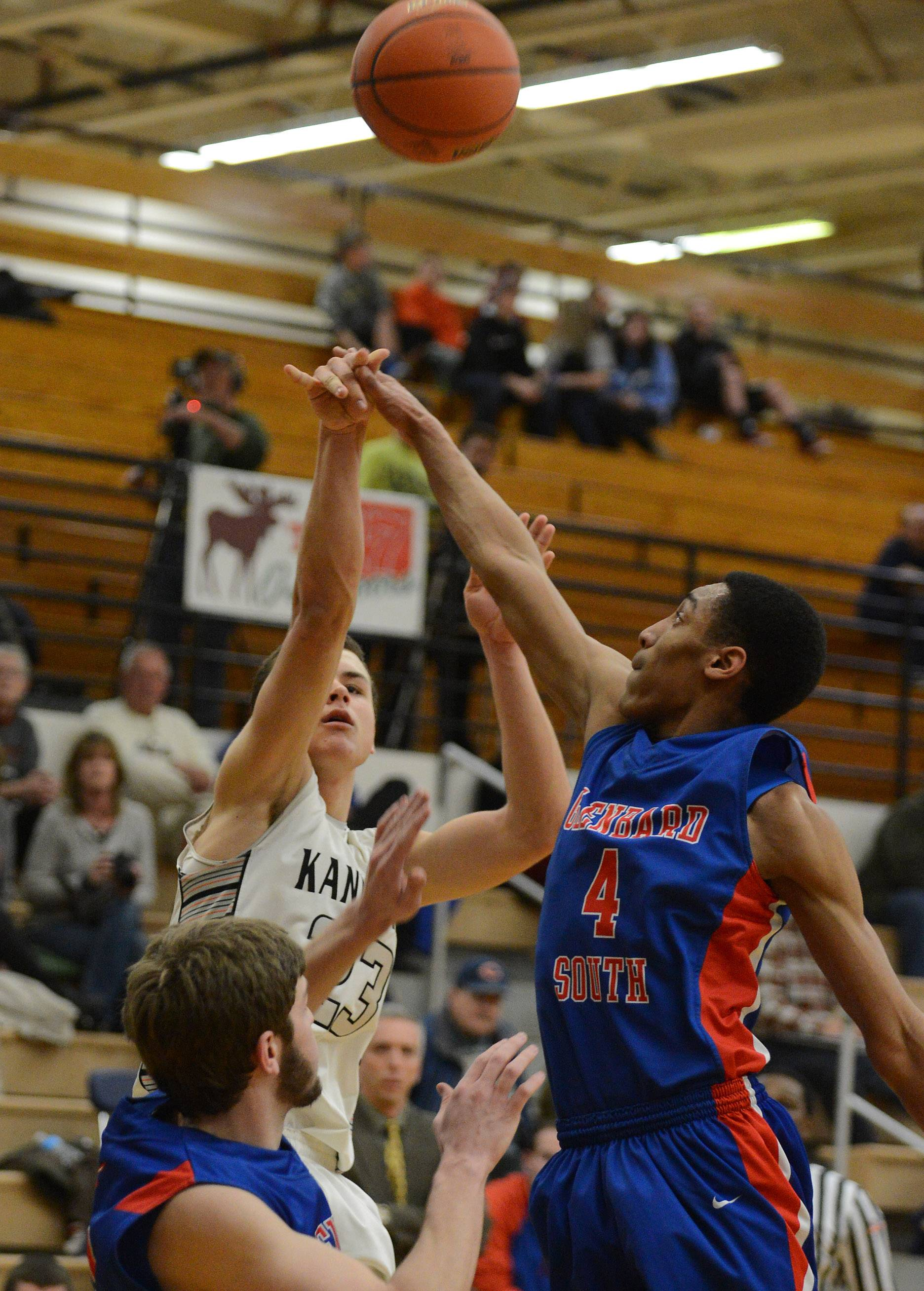 Images from the Kaneland vs. Glenbard South boys basketball regional game Tuesday, March 4, 2014.