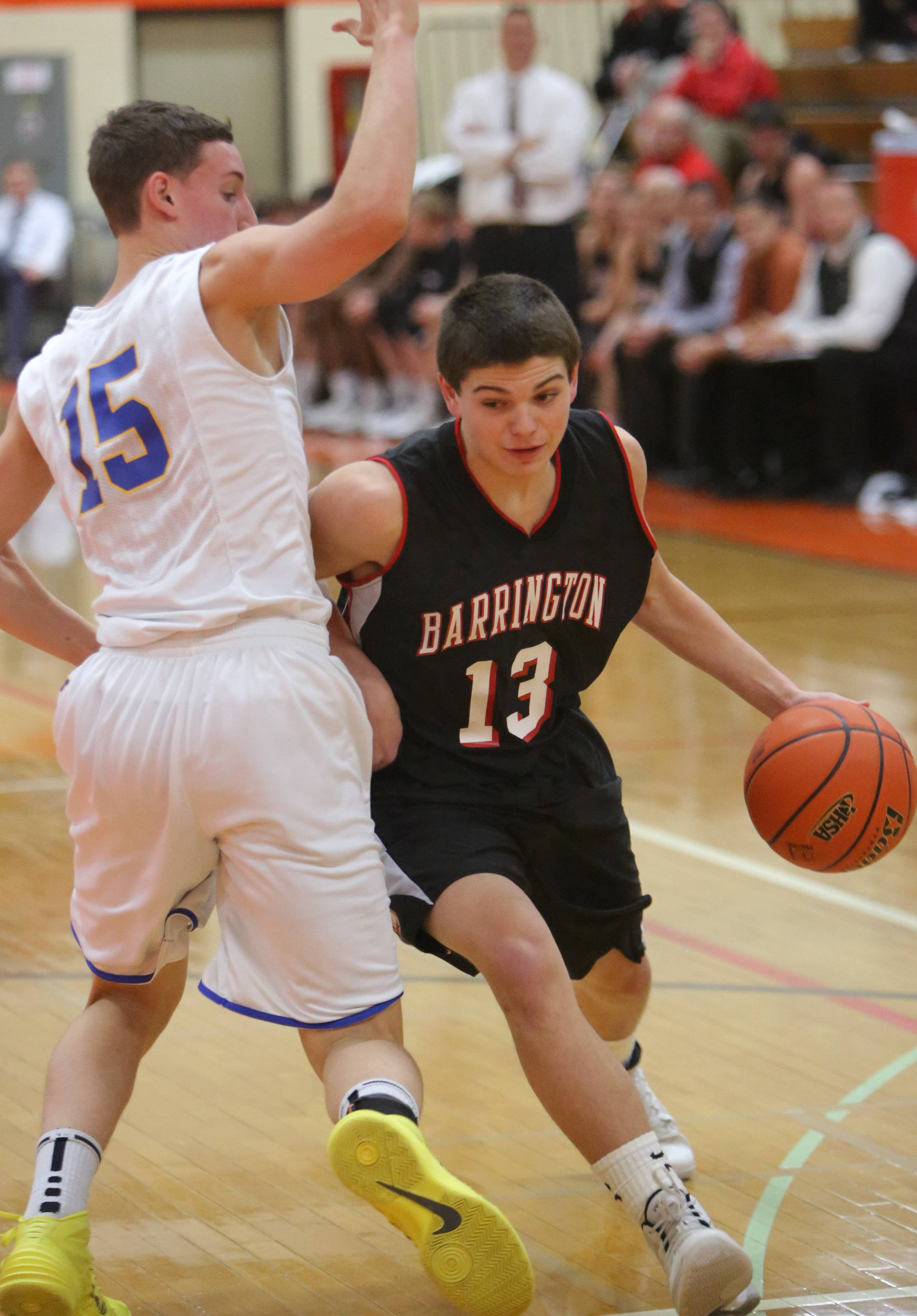 Images from the Barrington vs. Lake Forest regional boys basketball game on Tuesday night