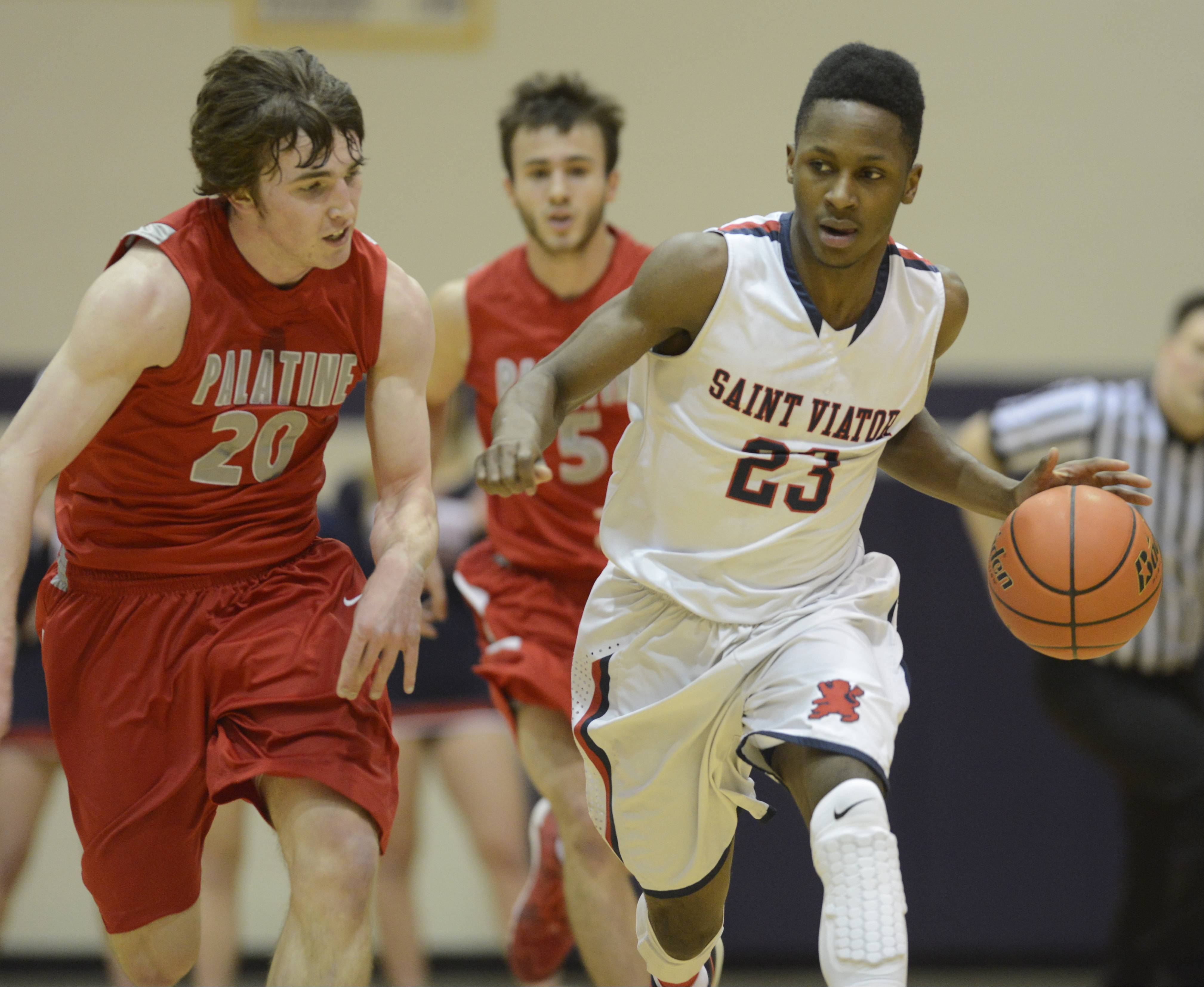 Images: St. Viator vs. Palatine boys basketball