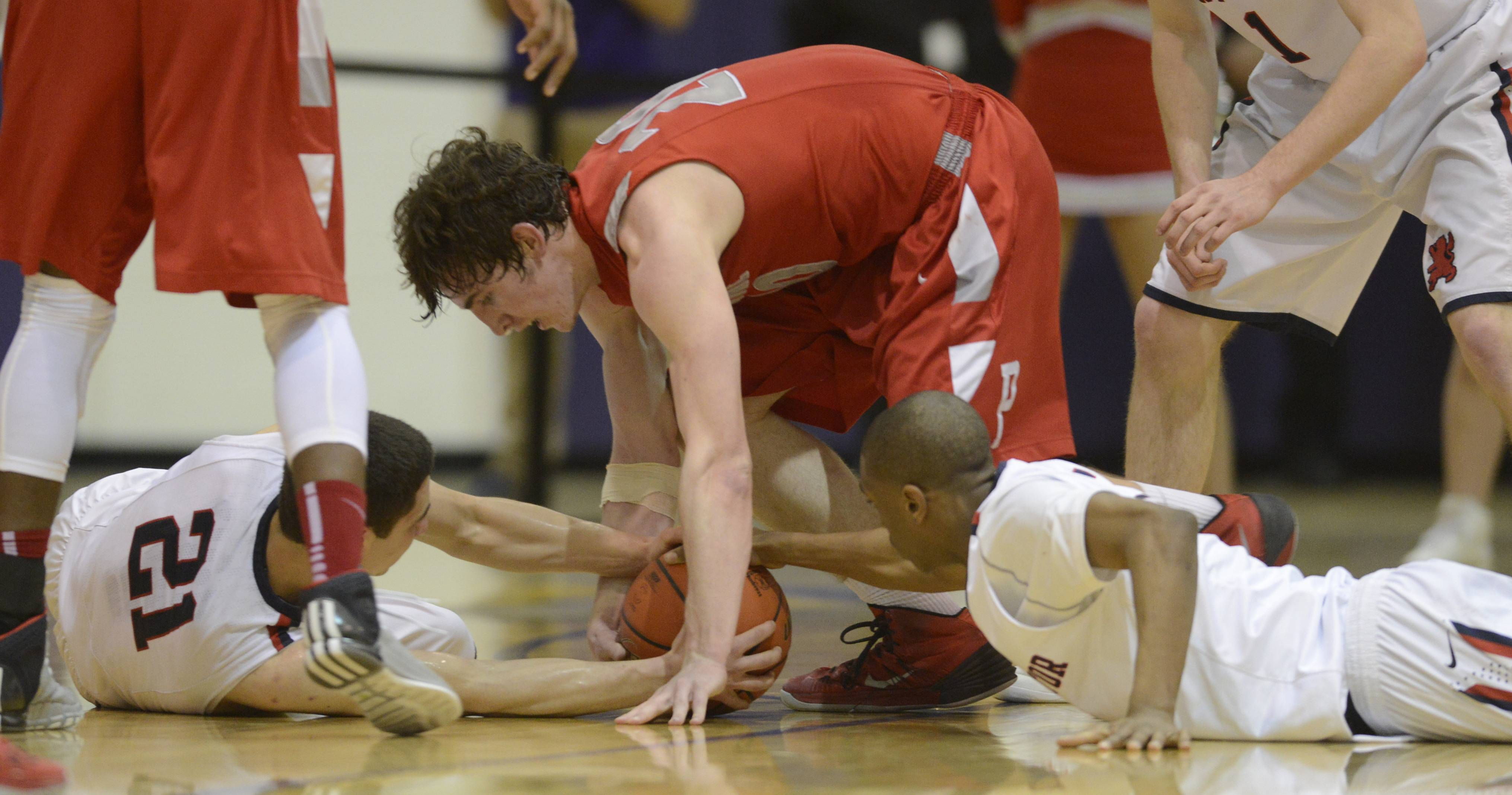 Images from the St. Viator vs. Palatine boys regional basketball game  at Rolling Meadows on Wednesday, March 5, 2014.