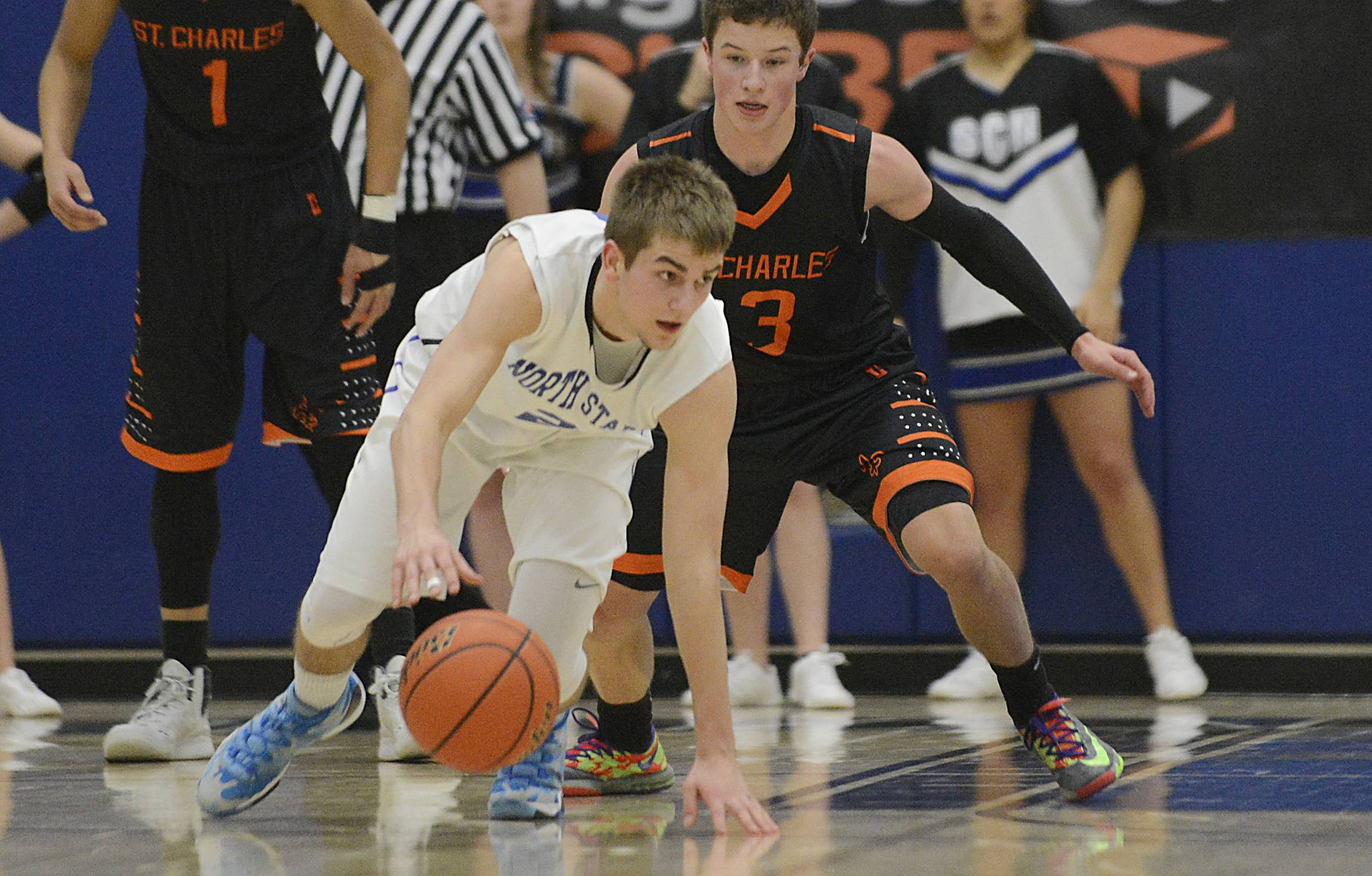 Images from the St. Charles East vs. St. Charles North boys basketball game Wednesday, March 5, 2014.