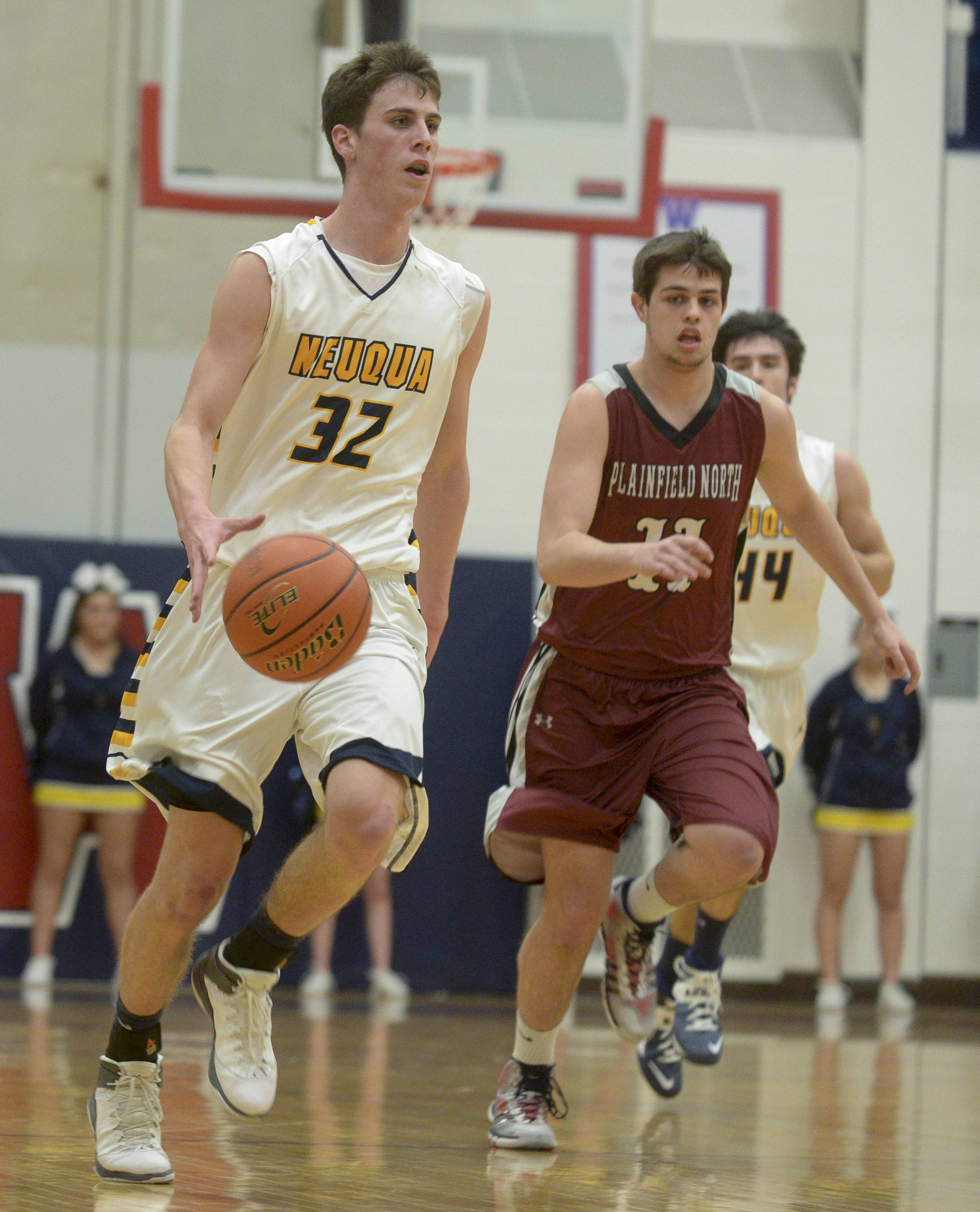 Neuqua Valley vs. Plainfield North boys basketball at Class 4A West Aurora regional semifinal action Wednesday, March 5.