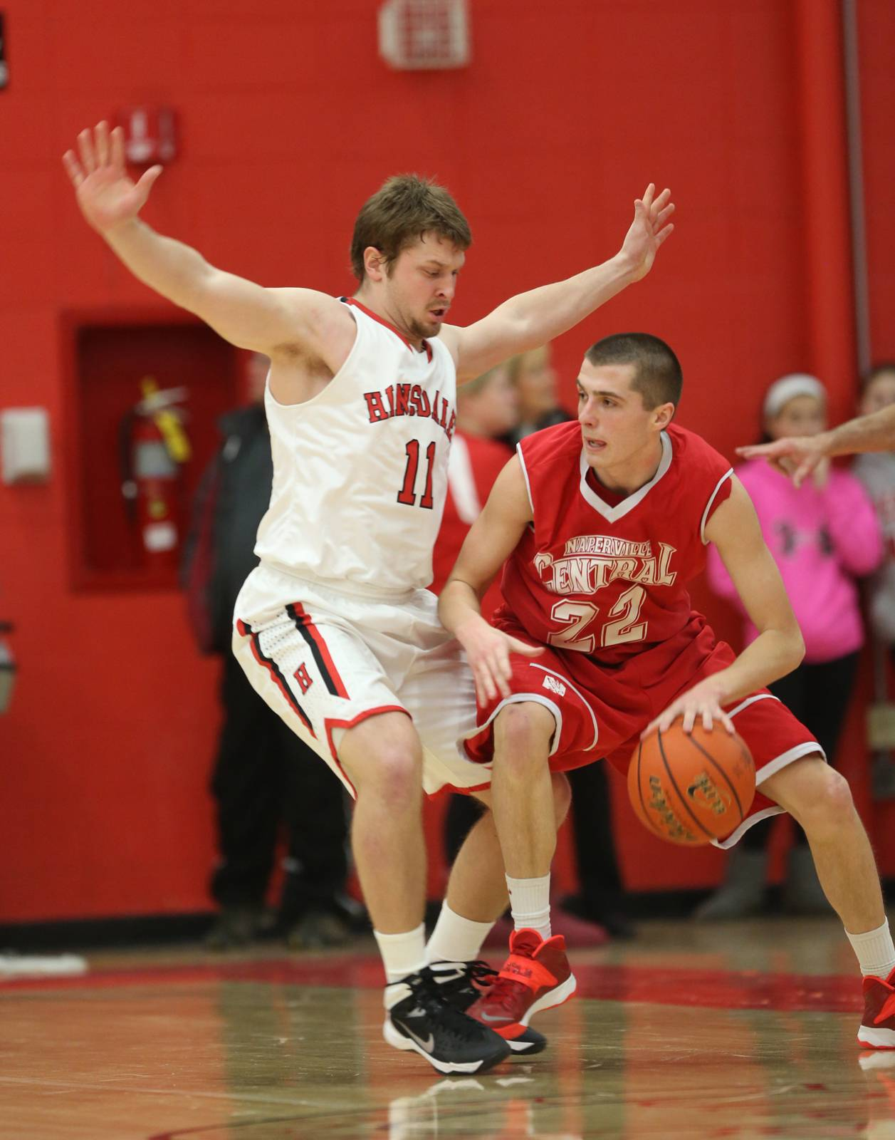 Hinsdale Central vs. Naperville Central at Class 4A Naperville Central regional final boys basketball action Friday, March 7.