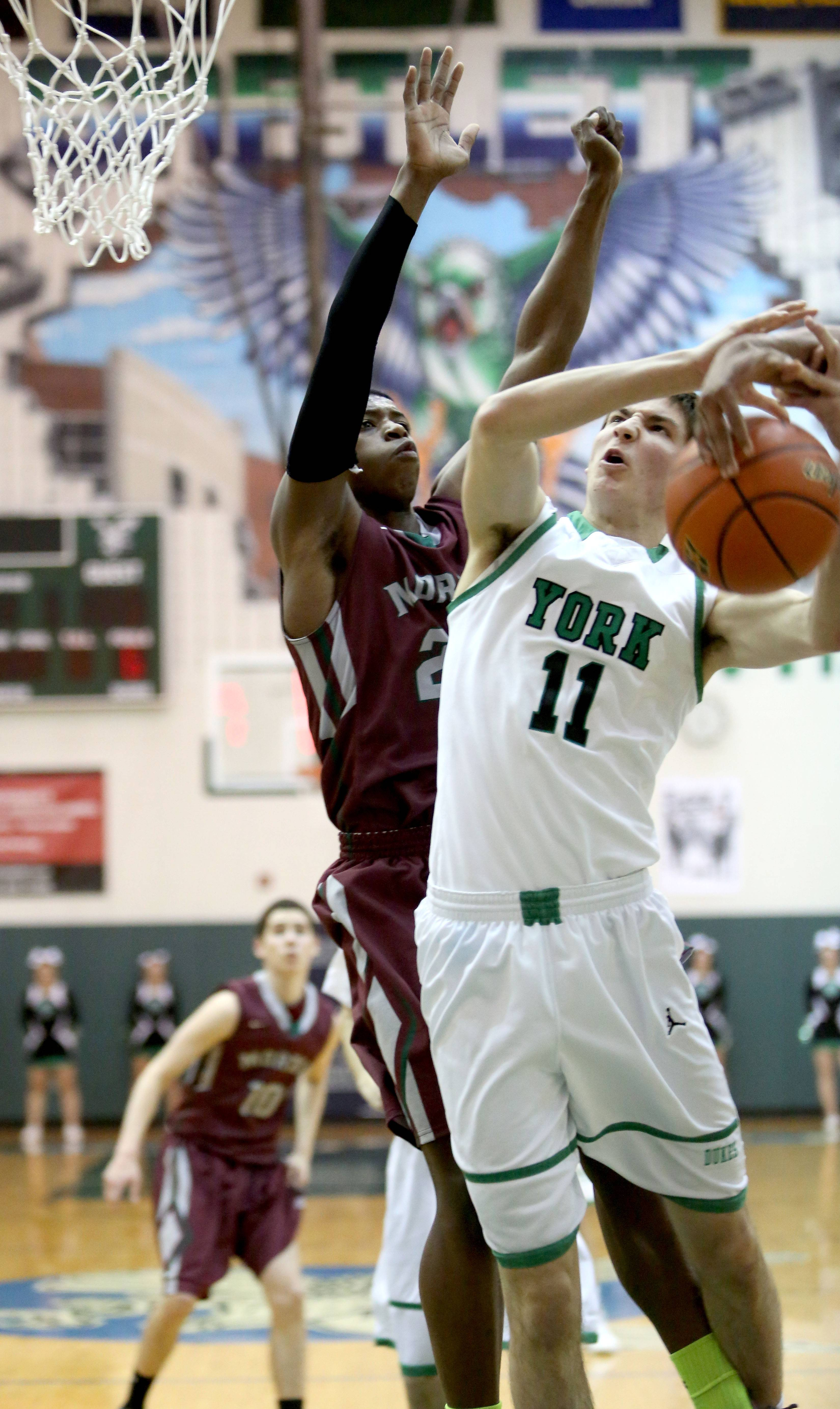 York's Brent Gasparich loses the ball.