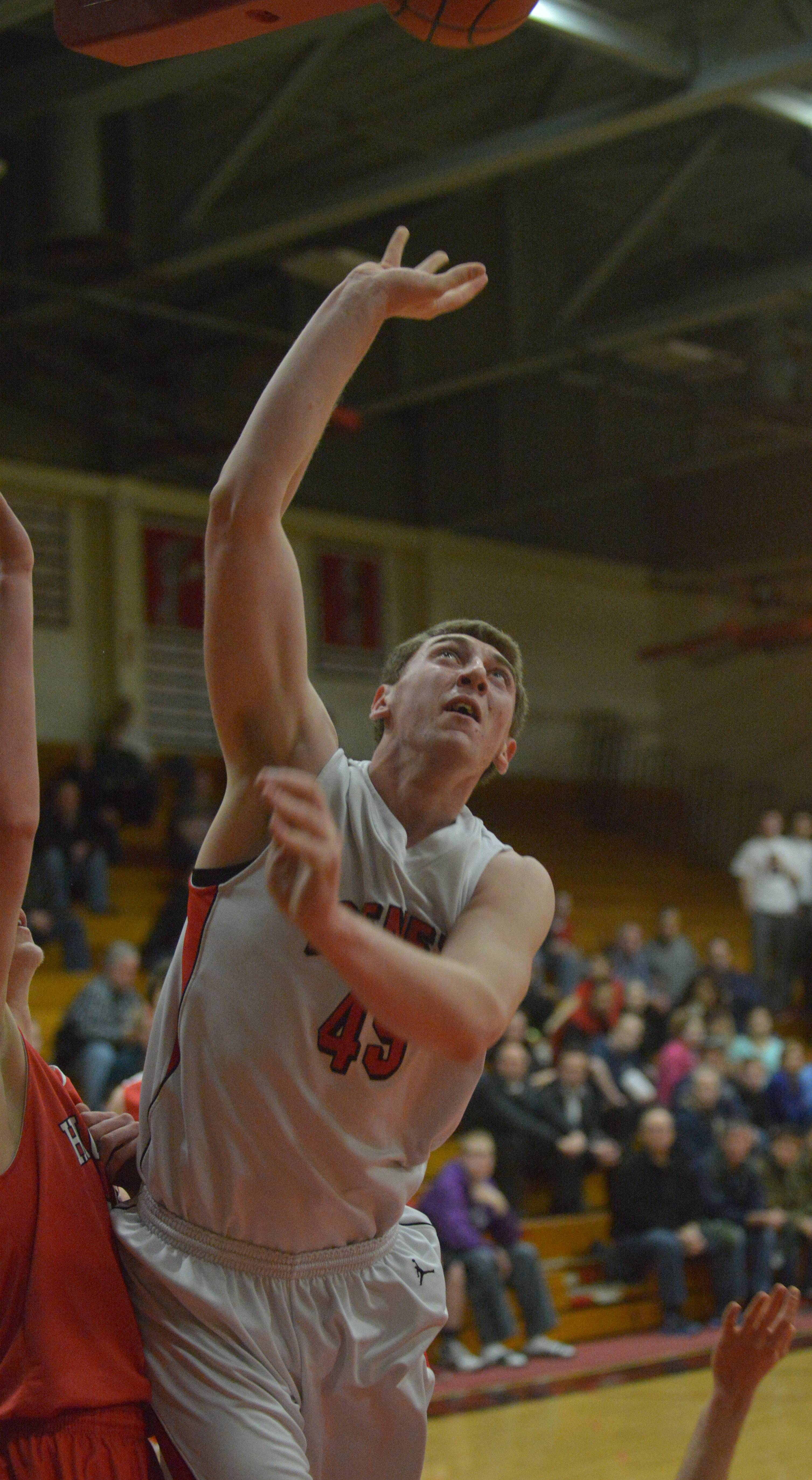 Benet vs. Hinsdale Central in Class 4A sectional semifinal basketball action Tuesday, March 11 at East Aurora High School.