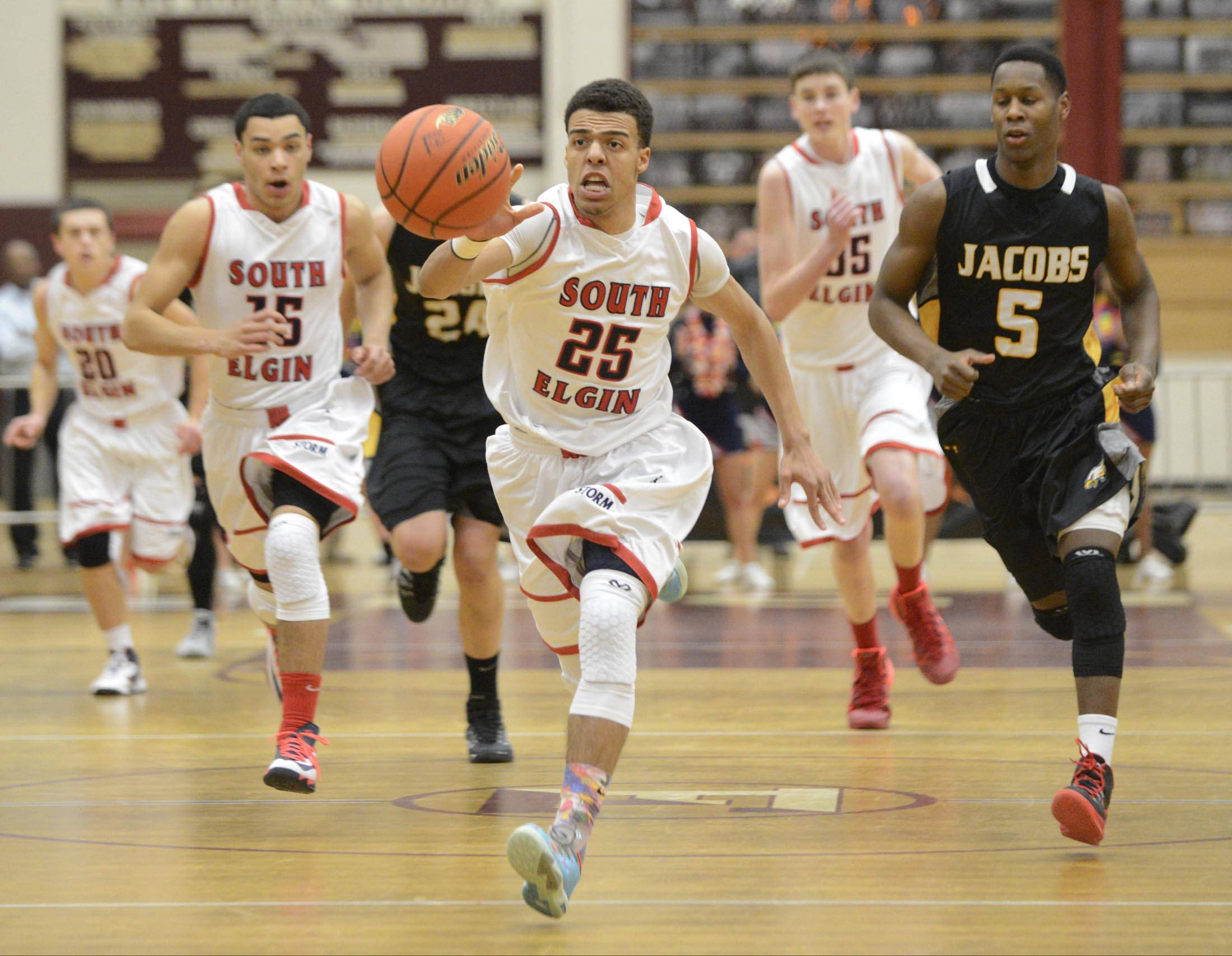 Images: South Elgin vs. Jacobs boys basketball