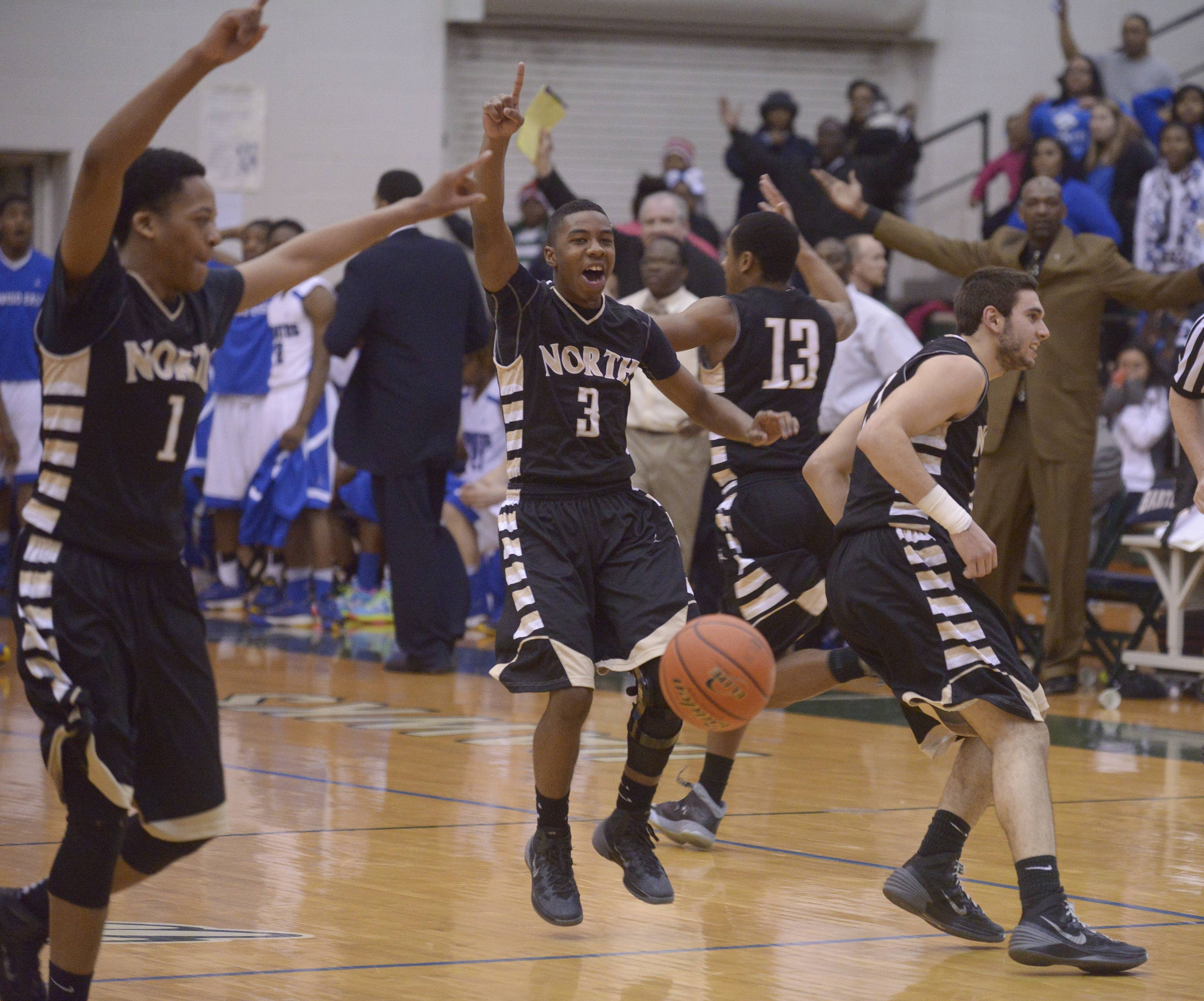 Glenbard North celebrates after defeating Proviso East in the Class 4A Bartlett sectional semifinal Wednesday.