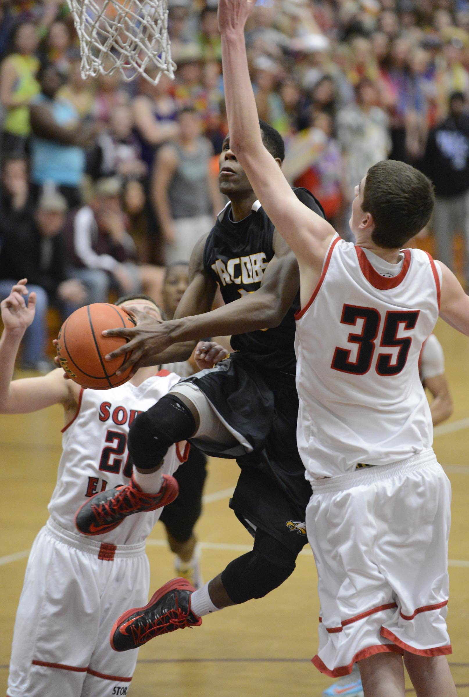 Images from the Jacobs vs. South Elgin boys sectional semifinal game Wednesday, March 12, 2014 in Elgin.