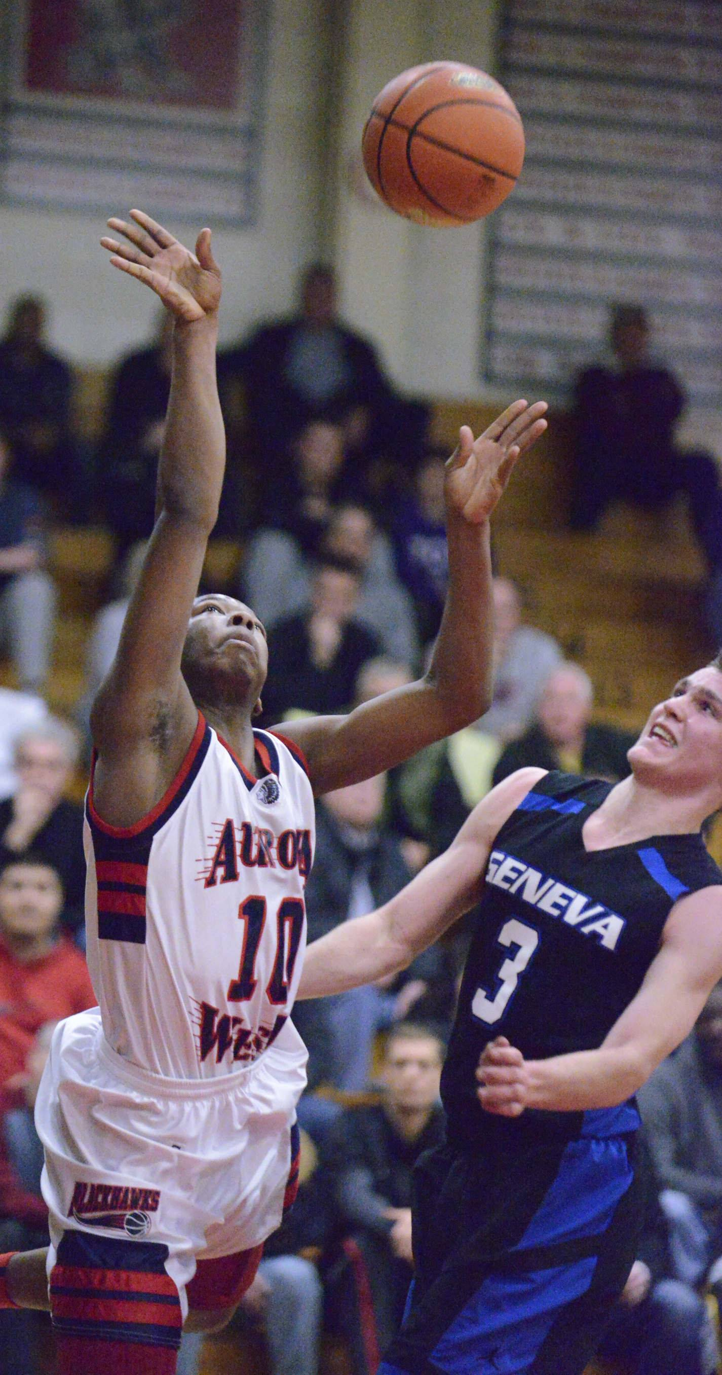Images from the West Aurora vs. Geneva sectional semifinal boys basketball game Wednesday, March 12, 2014 in Aurora.