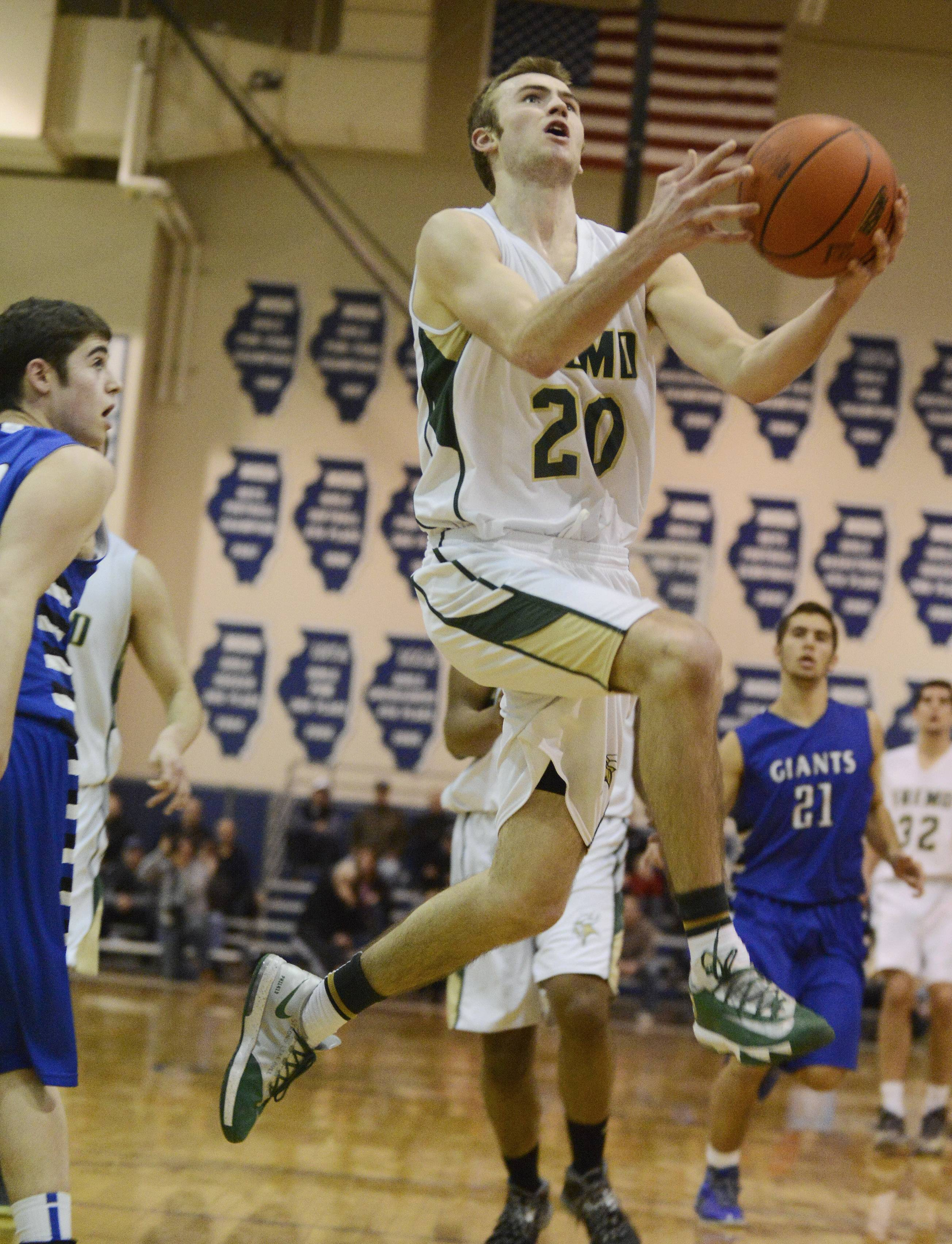 Fremd's Riley Glassmann gets to the basket during the Vikings' victory over Highland Park in Wednesday's Class 4A sectional semifinal at Lake Zurich.