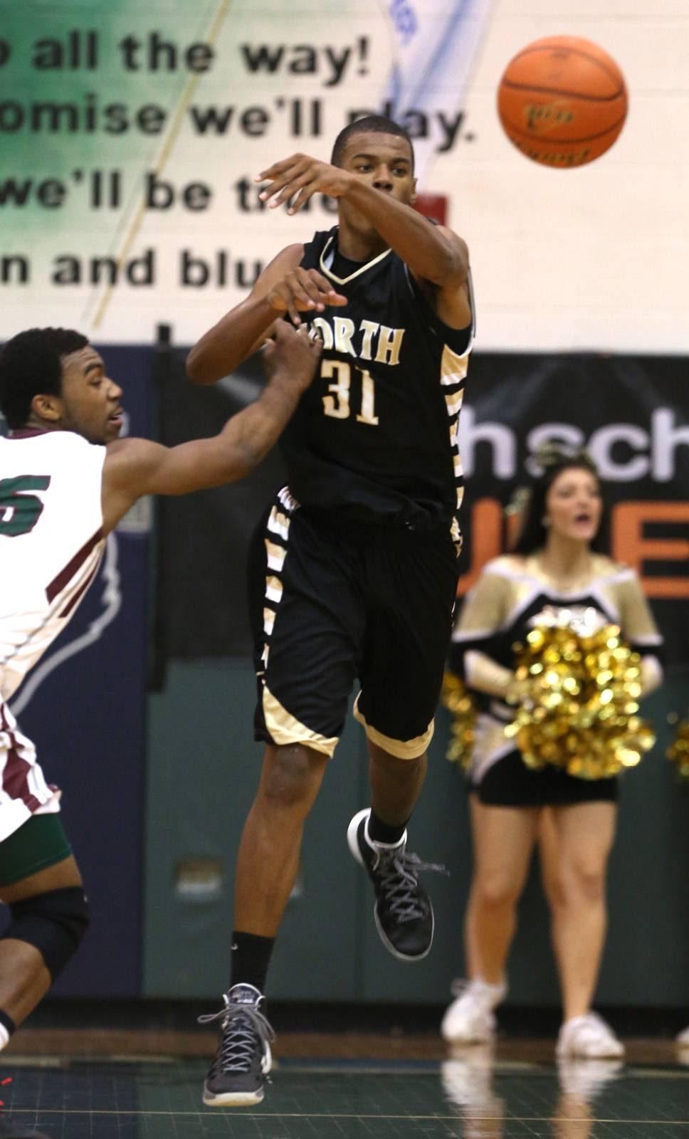 Glenbard North played Morton Friday, March 14, 2014, for a boys basketball sectional final game at Bartlett High School.