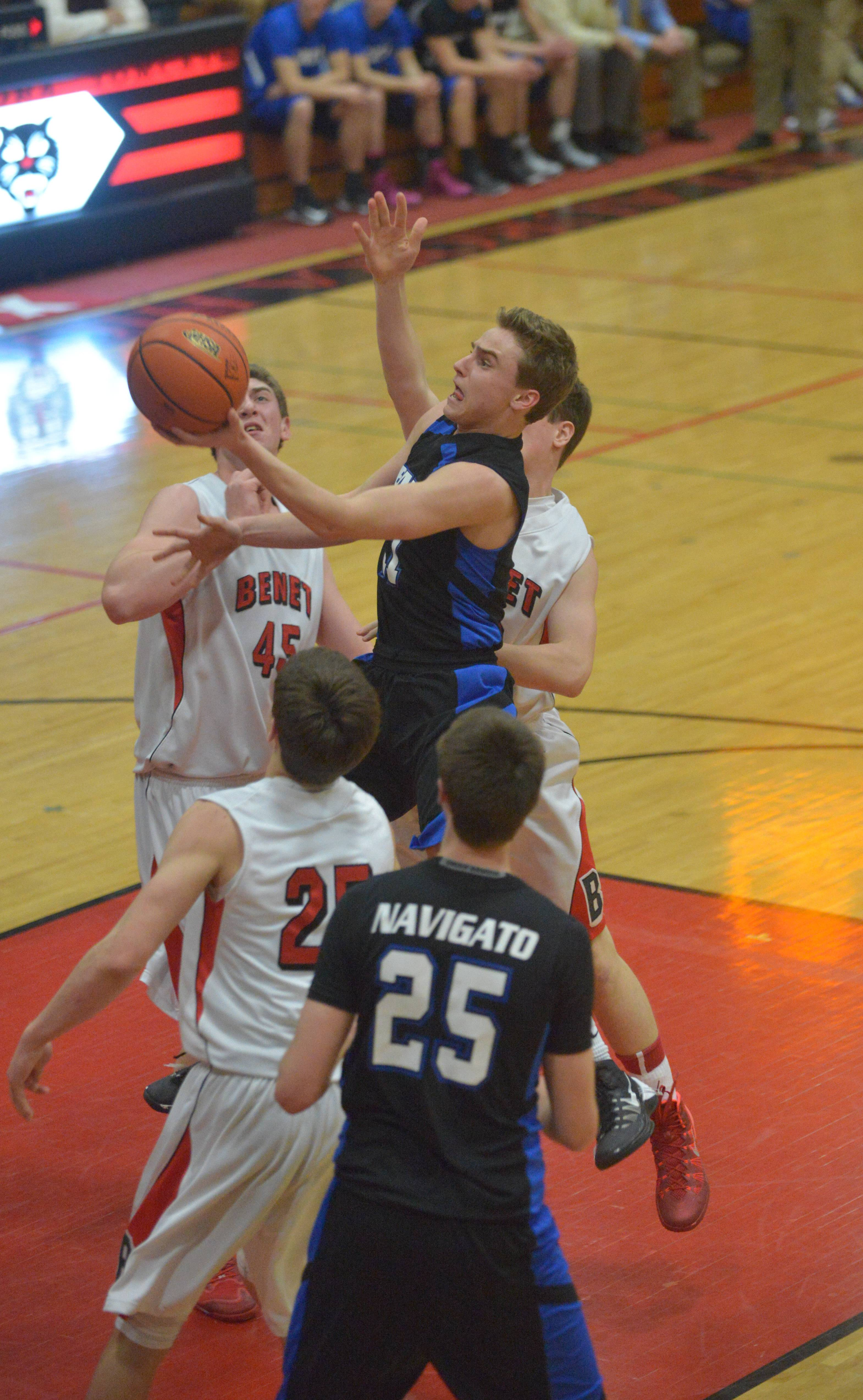 Benet played Geneva at East Aurora High School Friday, March 14, for a boys basketball secional final game.