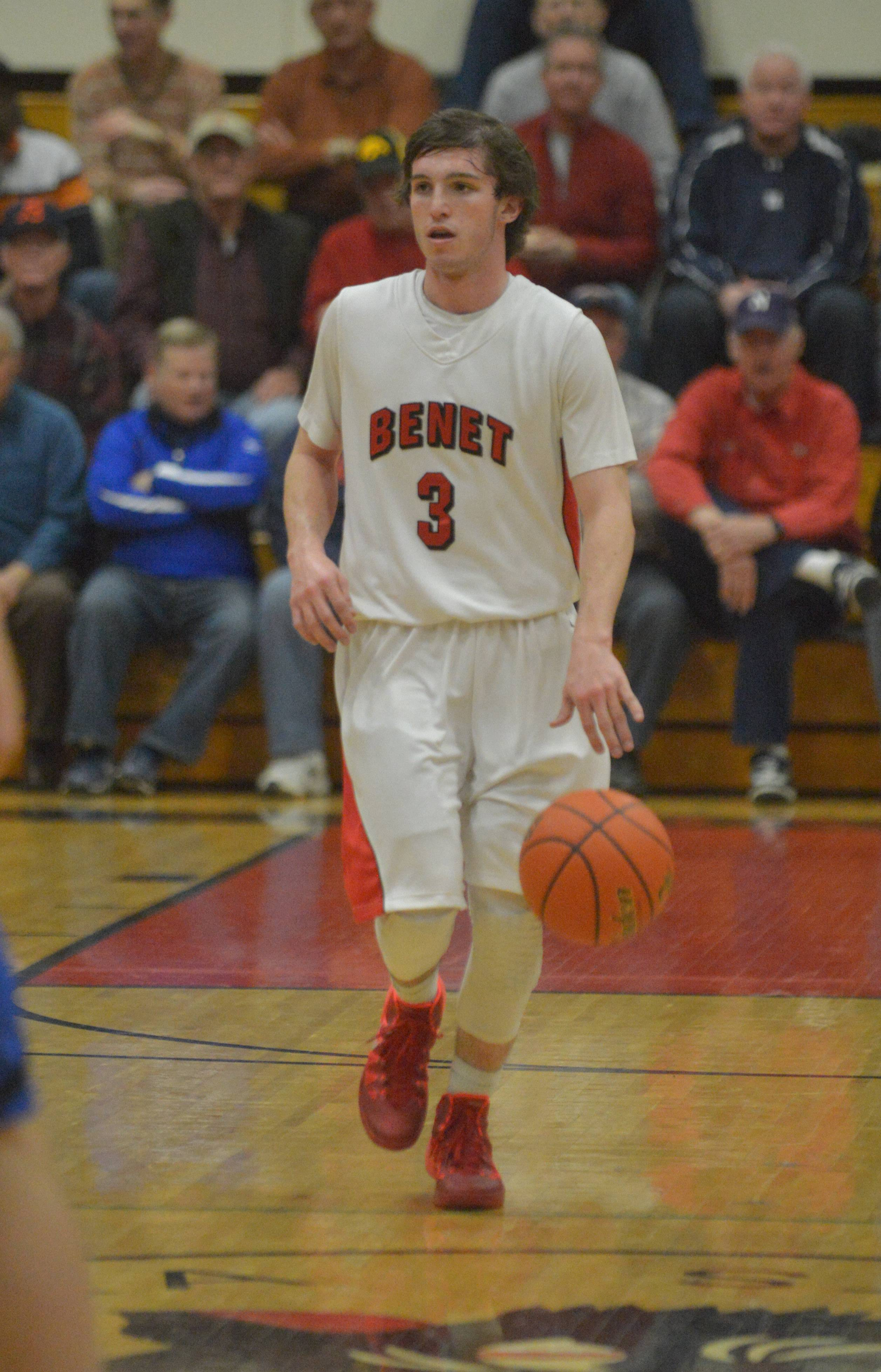 Benet guard Collin Pellettieri will guide the Redwings against Glenbard North on Tuesday night.