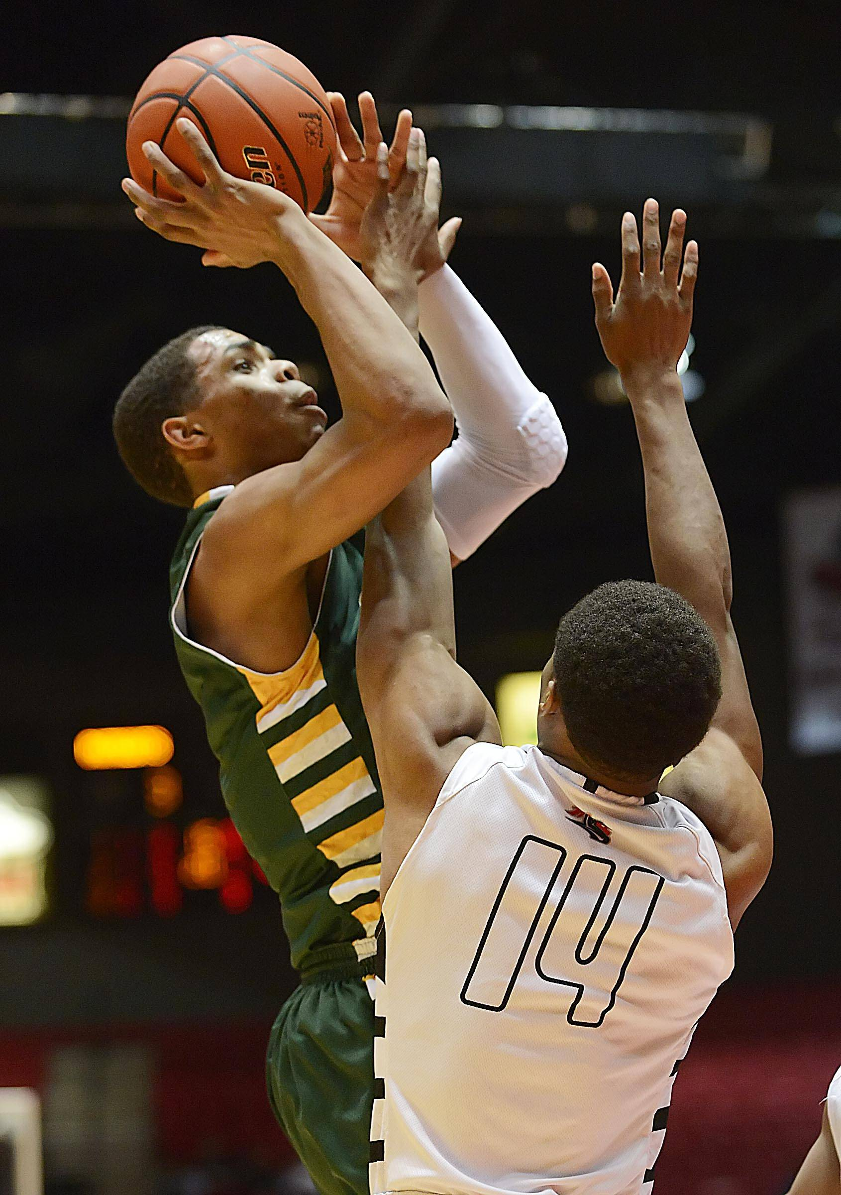 Images from the Stevenson vs. Rockford Auburn boys Class 4A supersectional basketball game on Tuesday, March 18 in DeKalb.
