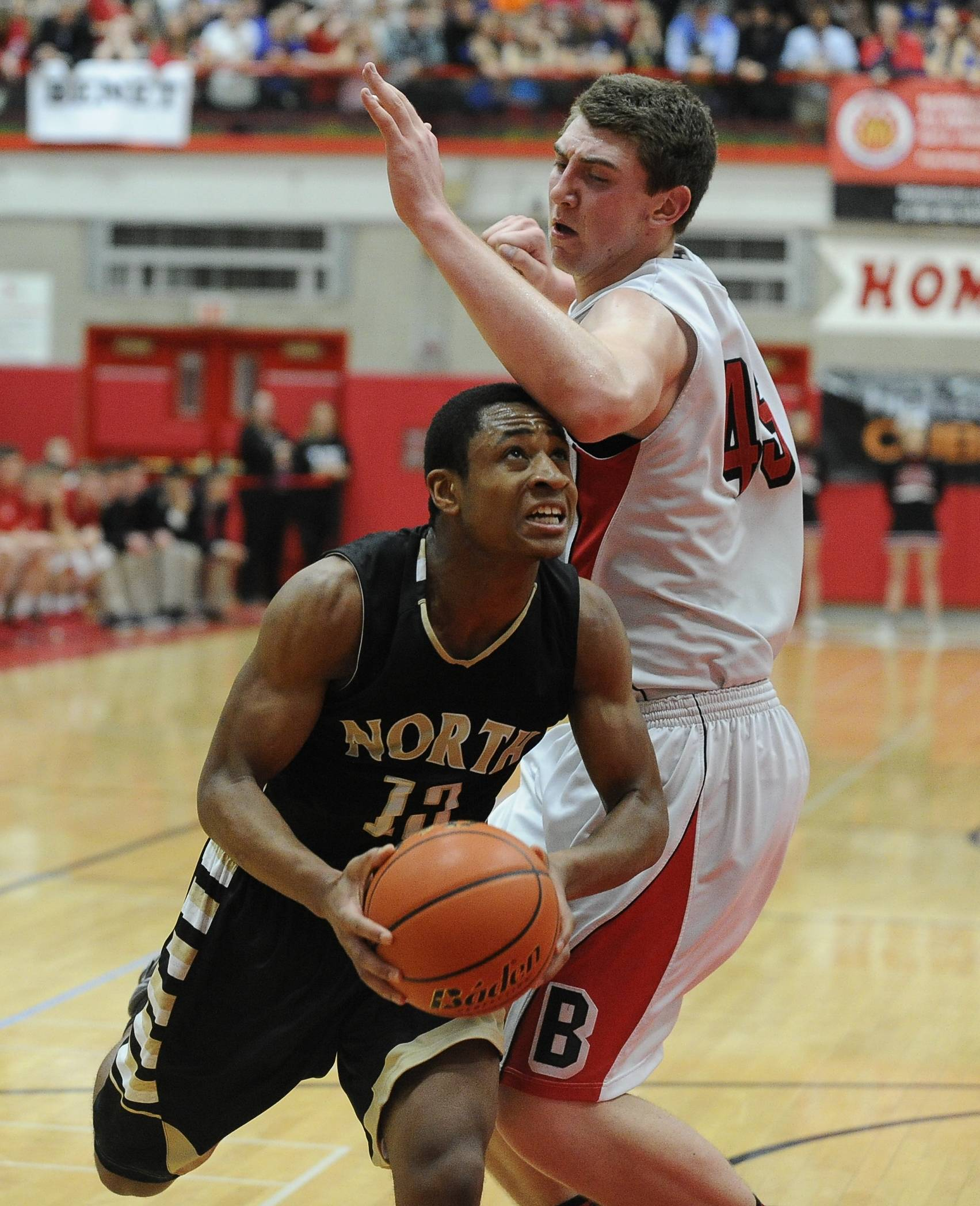 Glenbard North played Benet Academy Tuesday, March 18 at Hinsdale Central for the Class 4A boys basketball supersectional.