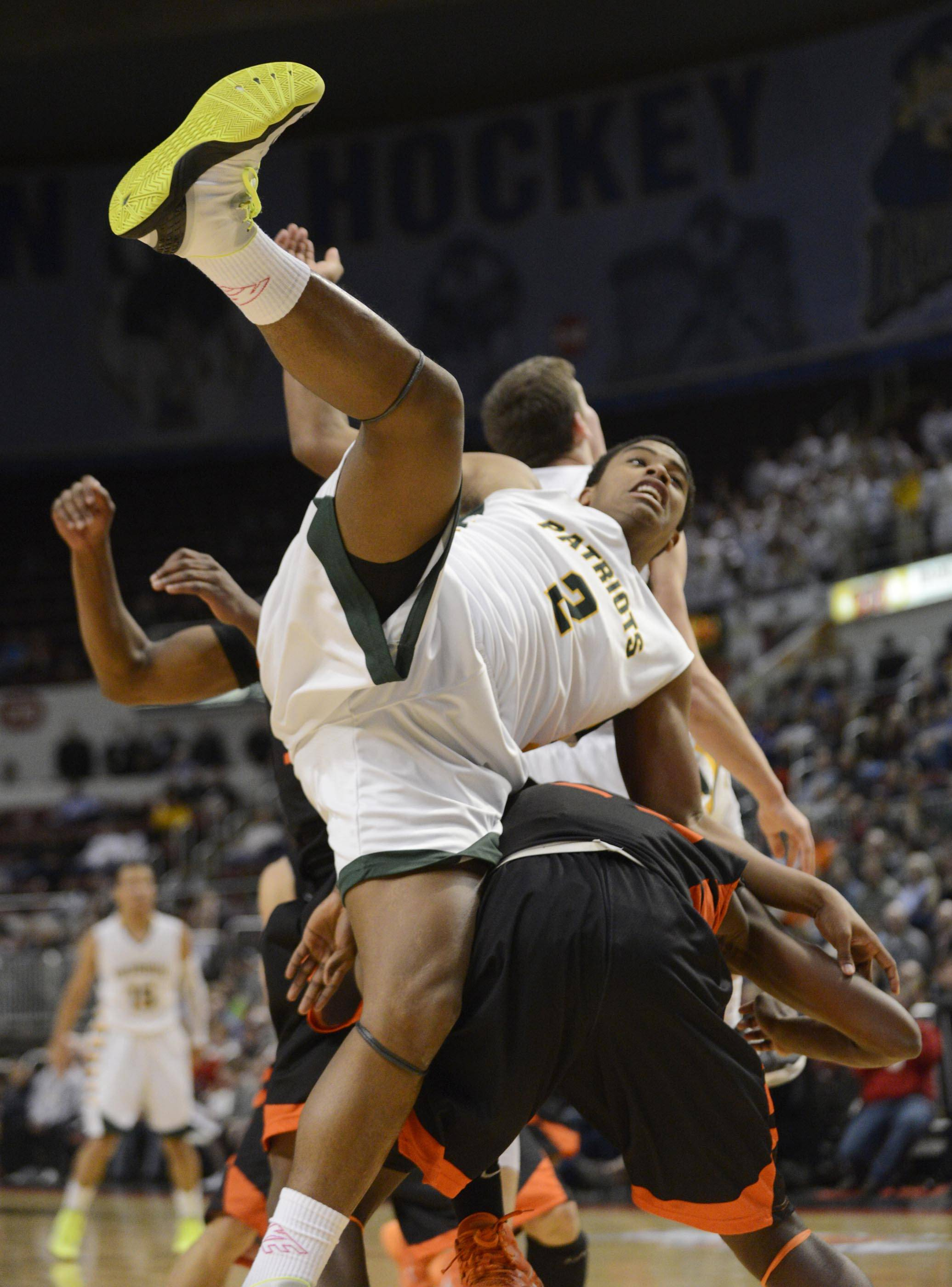 Images from the Class 4A state third place boys basketball game at Carver Arena in Peoria on Saturday, March 22, 2014.