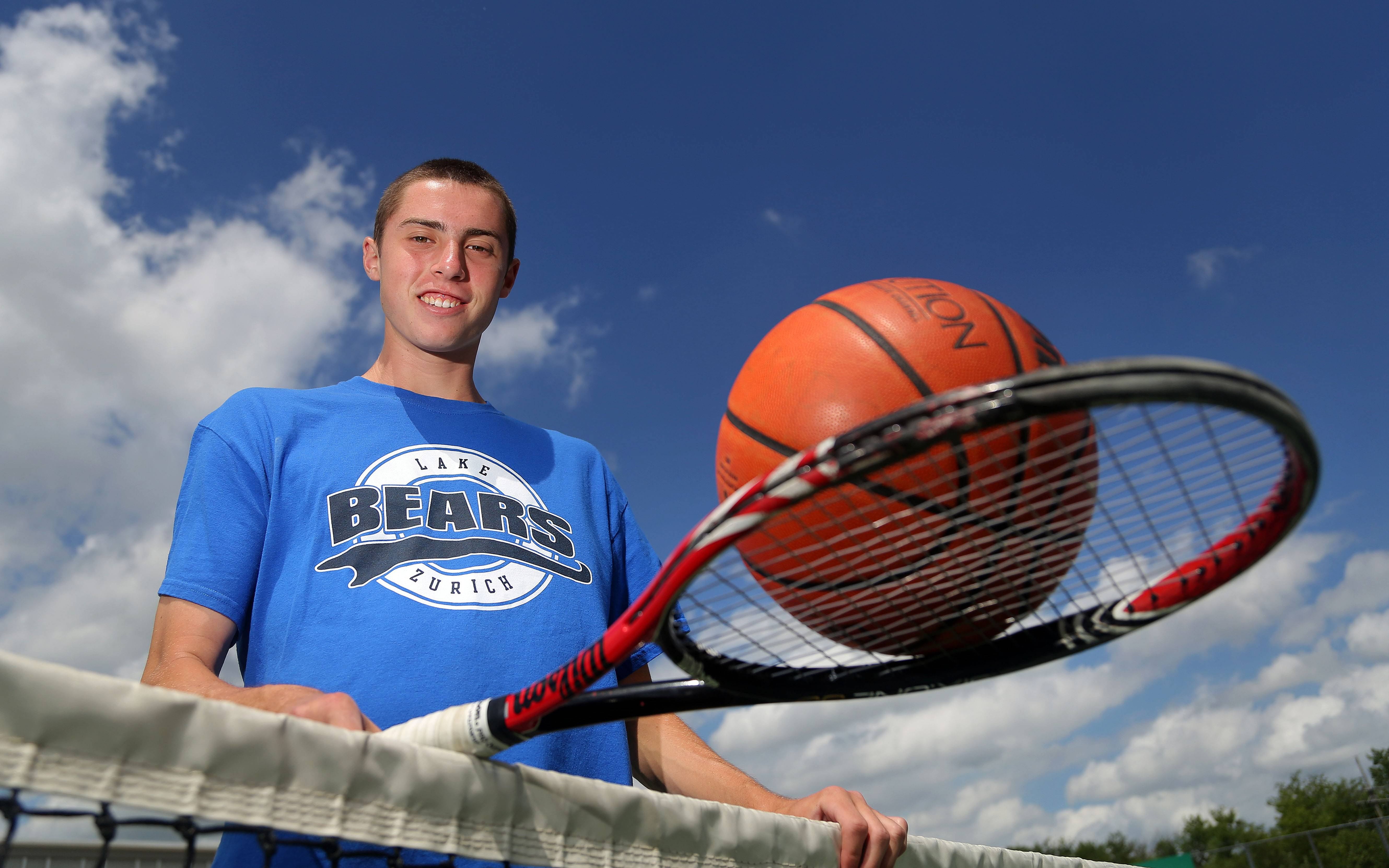 Dave Brown competed in basketball, tennis and cross country this school year for Lake Zurich High School.
