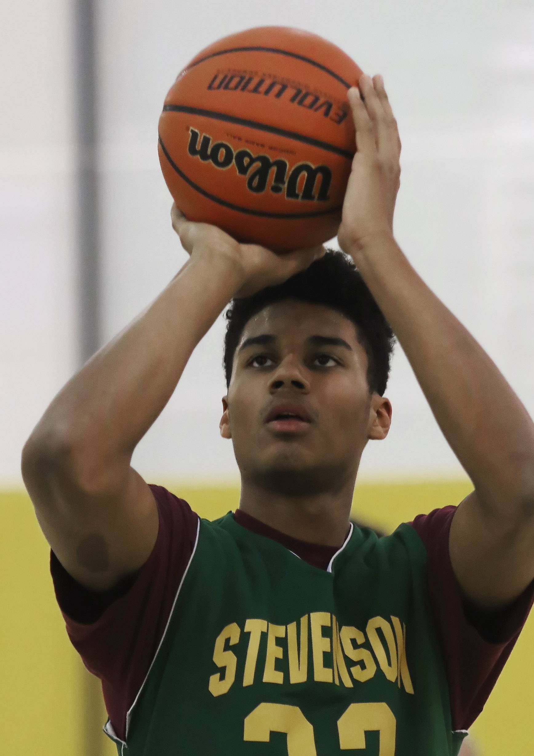 Stevenson High School basketball forward Justin Smith is the lone returning starter from last year's state championship team.
