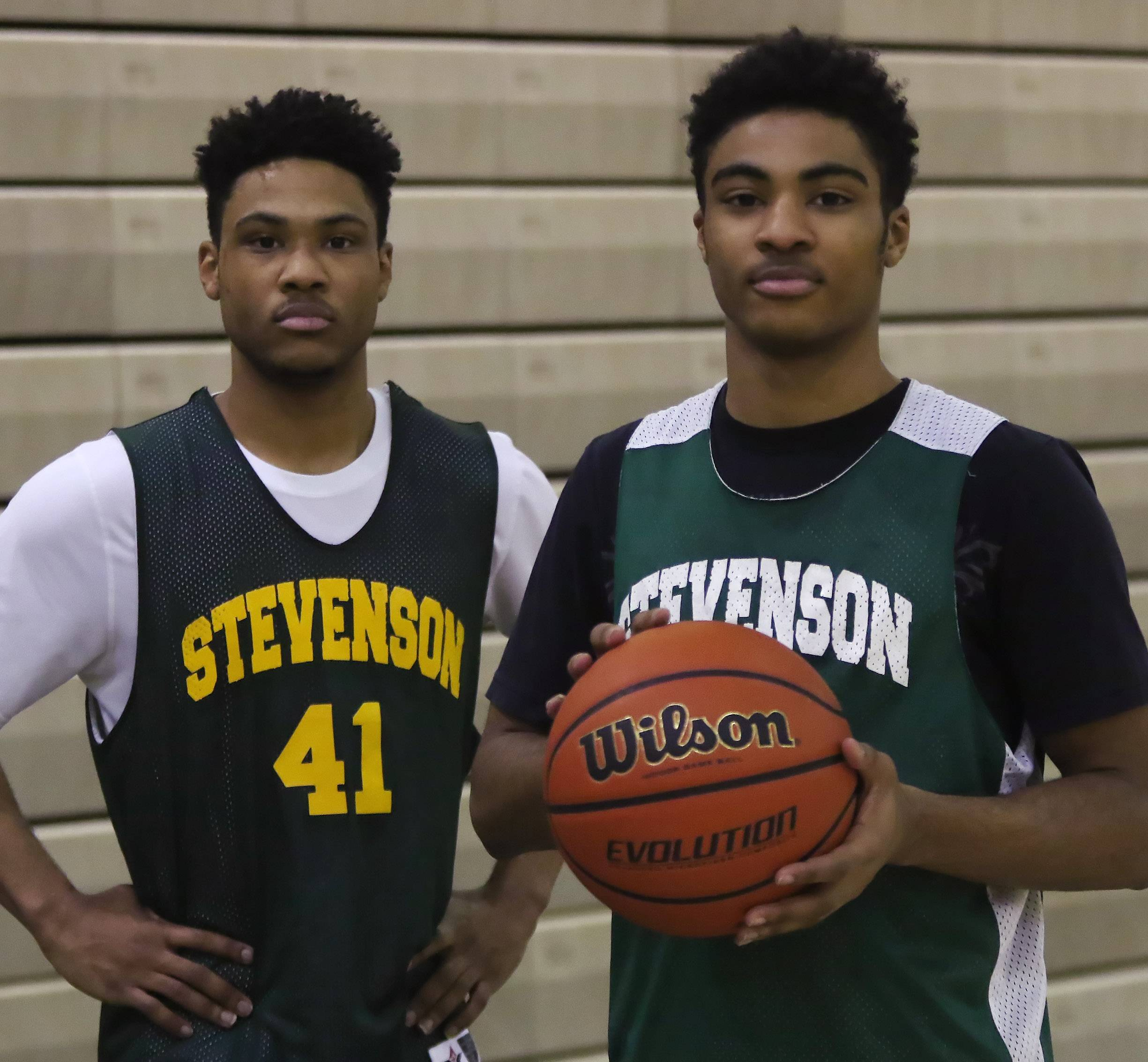Brothers Rodney, left, and Willie Herenton are making from the adjustment from the city to the suburbs, and from Whitney Young to the Stevenson High School boys basketball team.