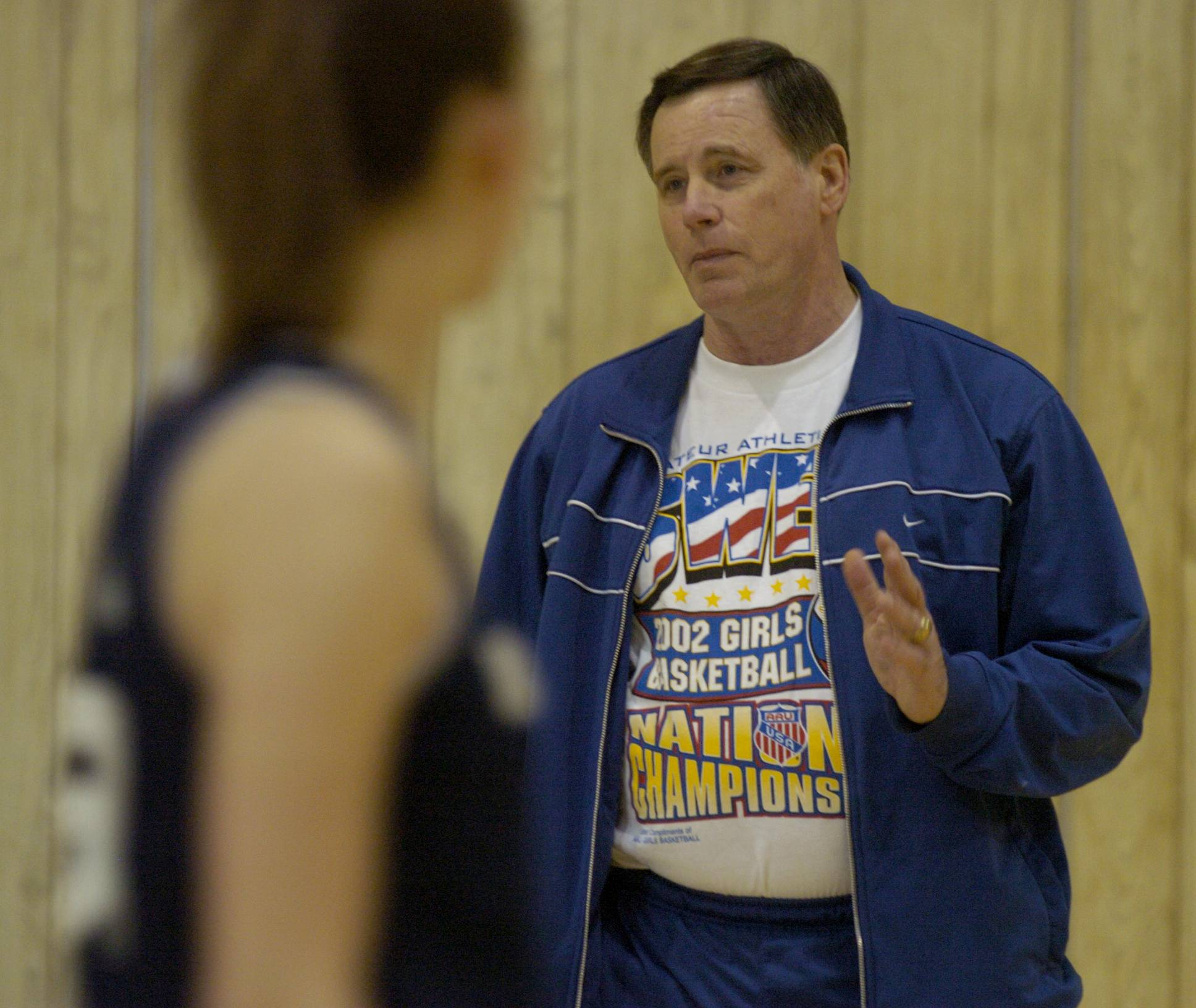 Maine West varsity girls basketball coach Derril Kipp in 2005.