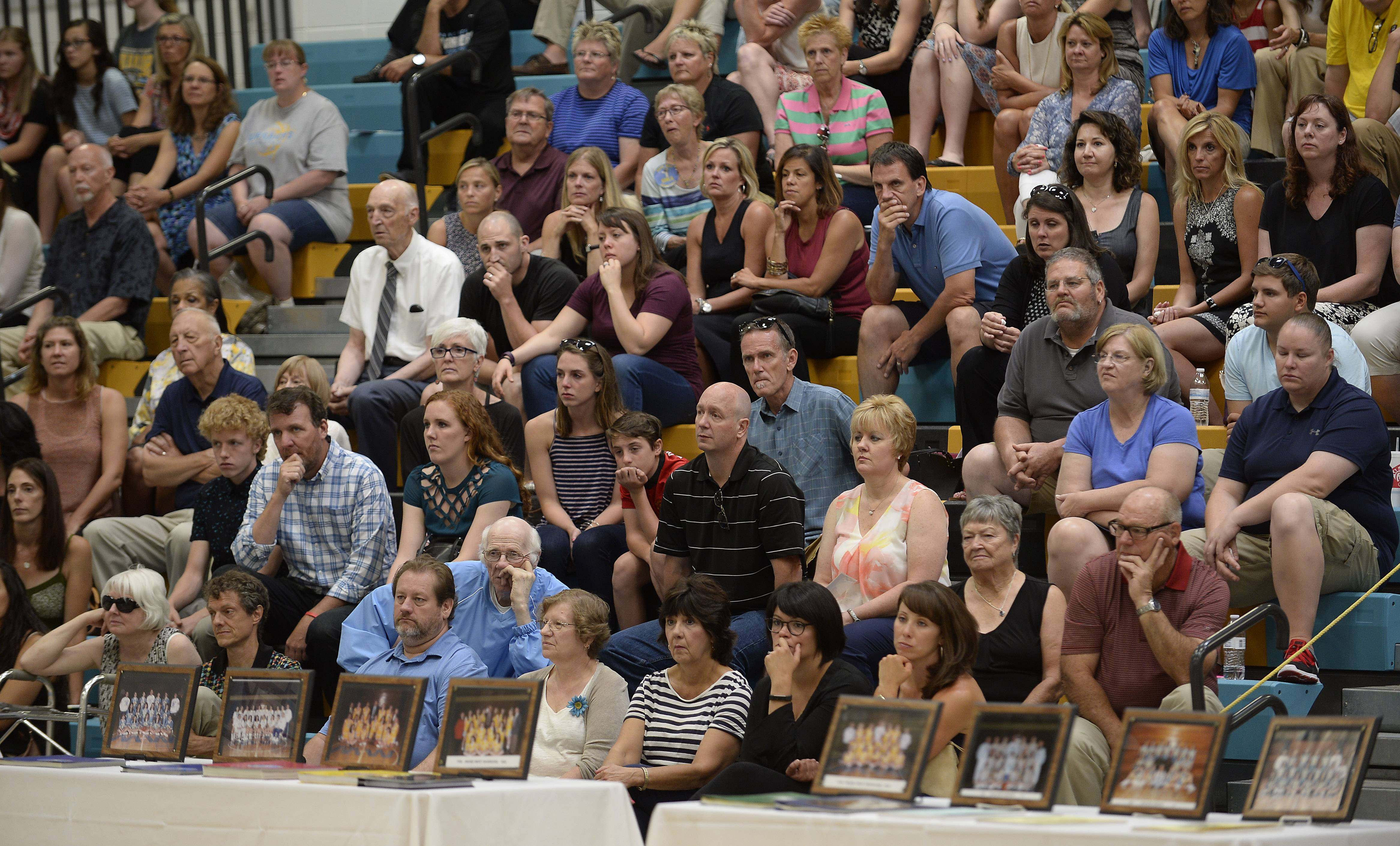 Maine West High School's spectator gymnasium was busy Saturday with visitors celebrating the life of longtime girls basketball coach Derril Kipp, who died July 5. He was 71.