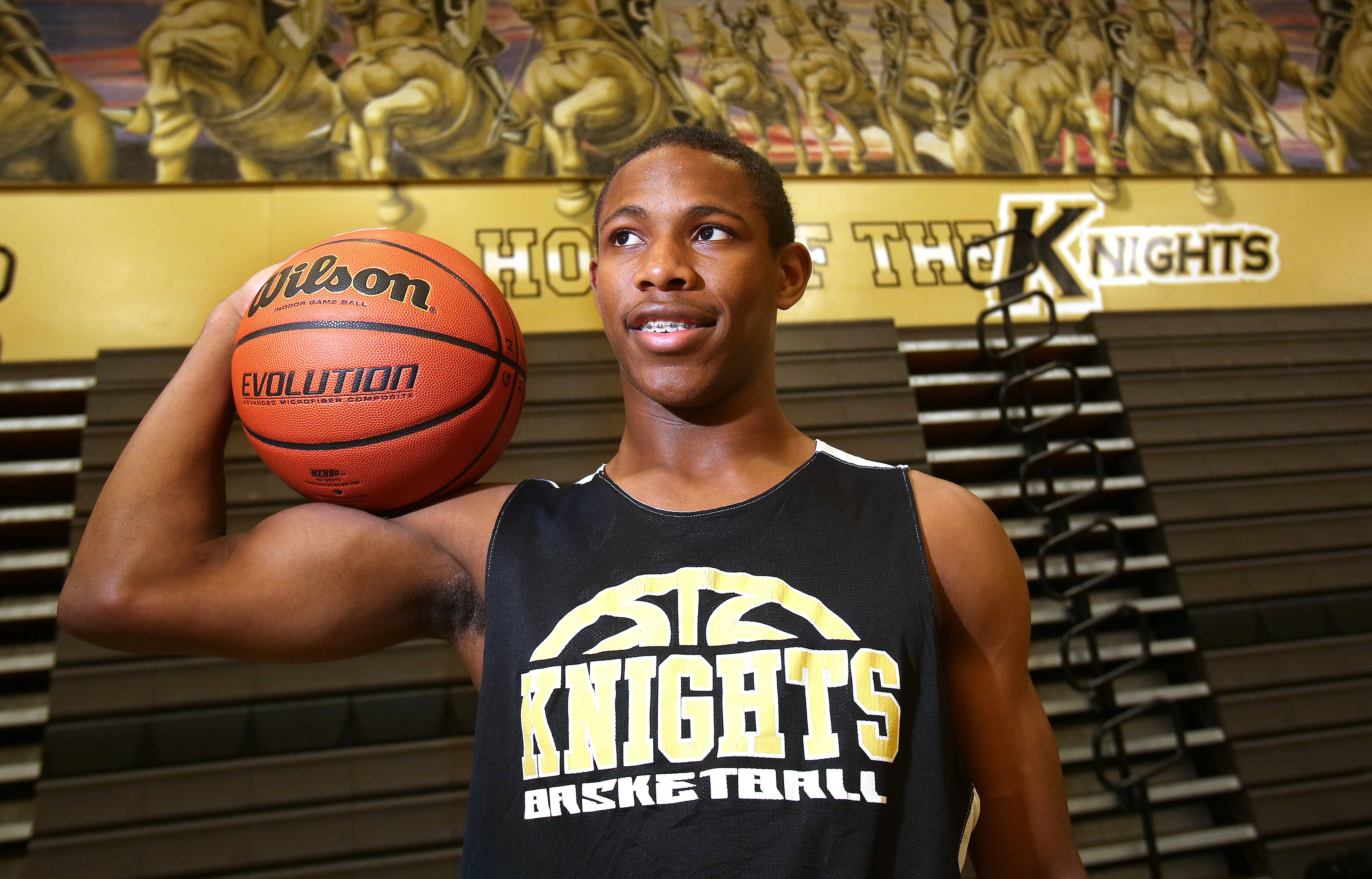 Grayslake North's Jamal Thomas is a speedy guard and one of the best returning players in Lake County. He came to the area from Detroit and is enjoying a totally different style of basketball with the Knights.