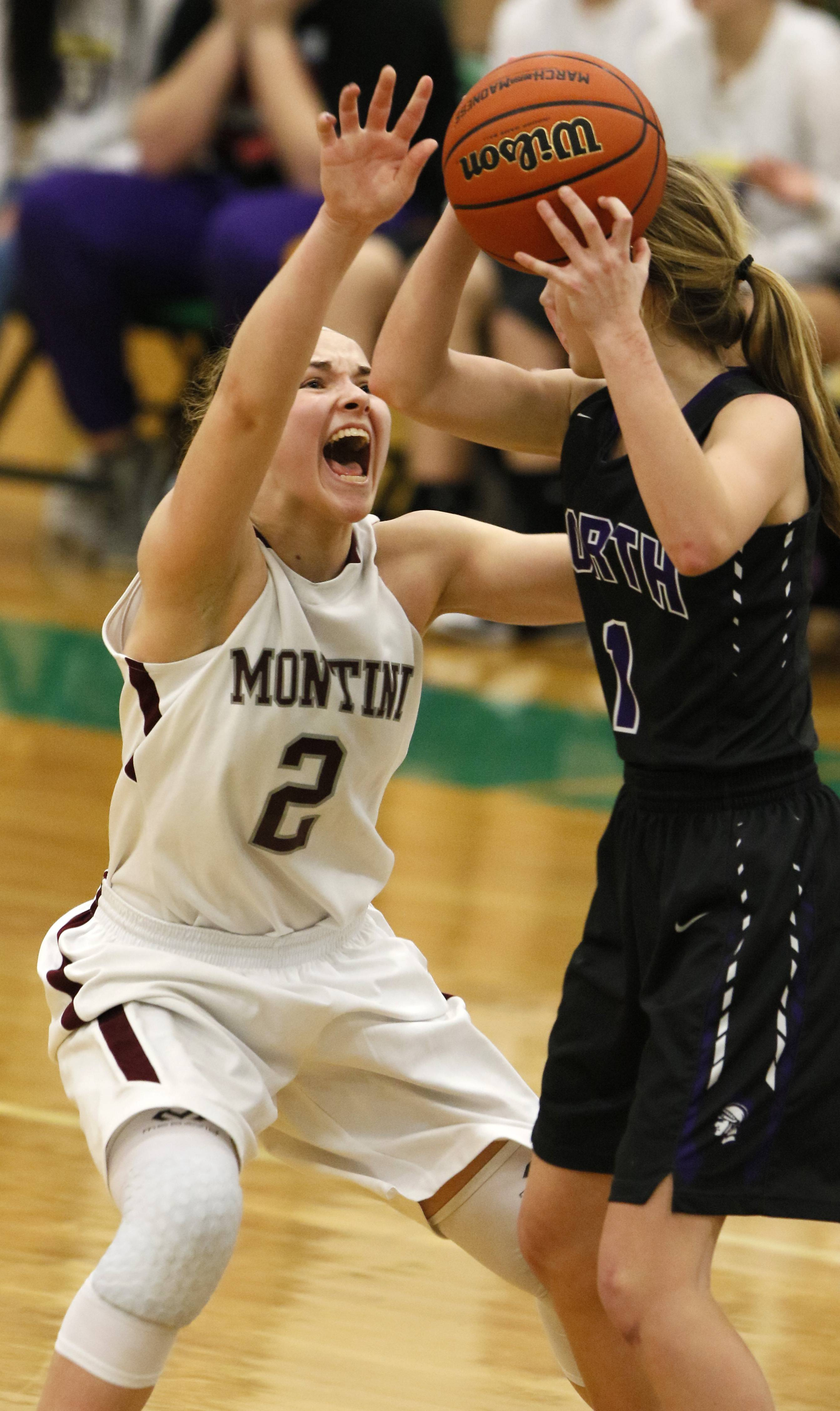 Images: Montini Catholic vs. Downers Grove North. girls basketball