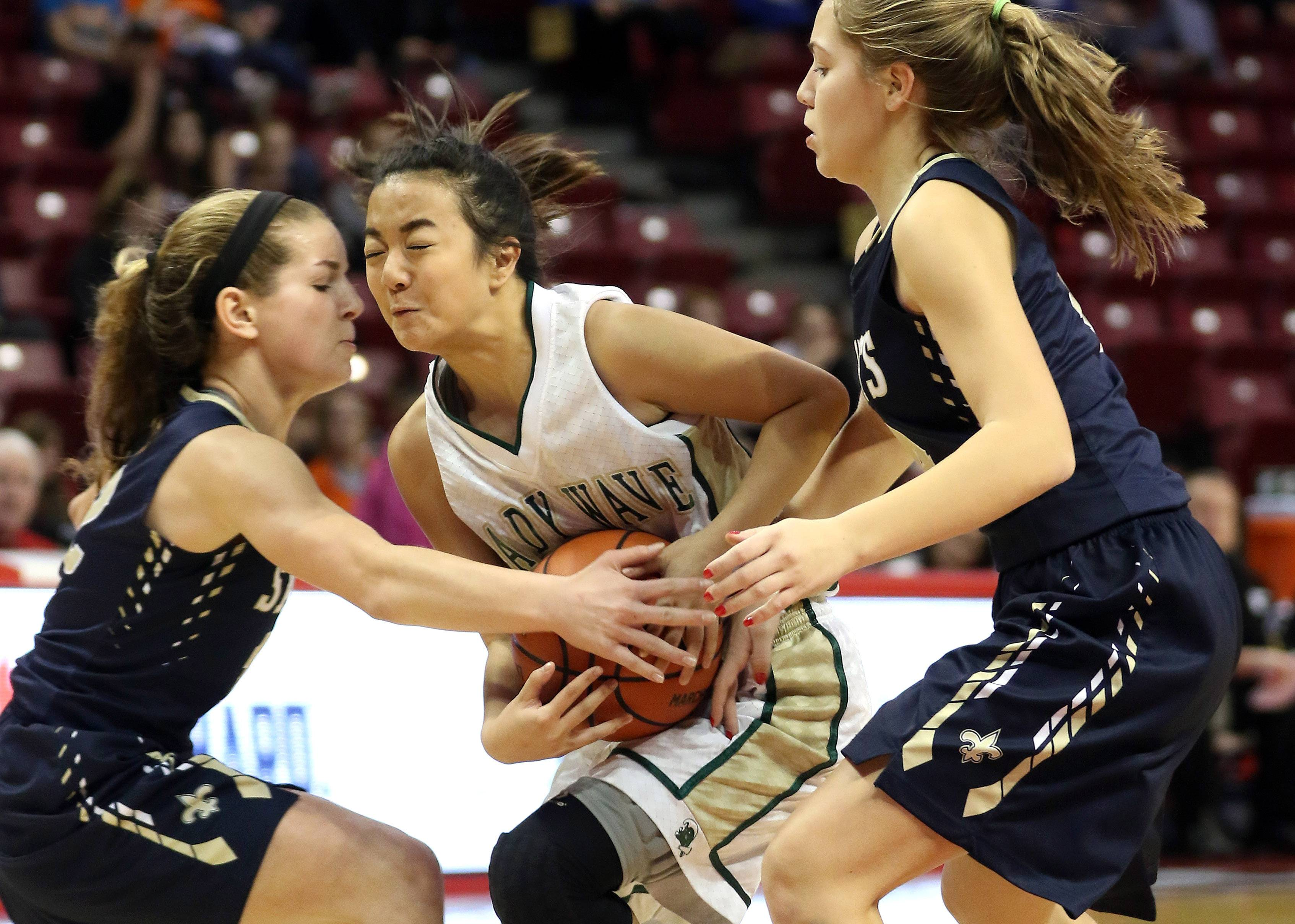 Images: St. Edward falls to Bloomington Central Catholic, 45-42 in girls basketball state semis