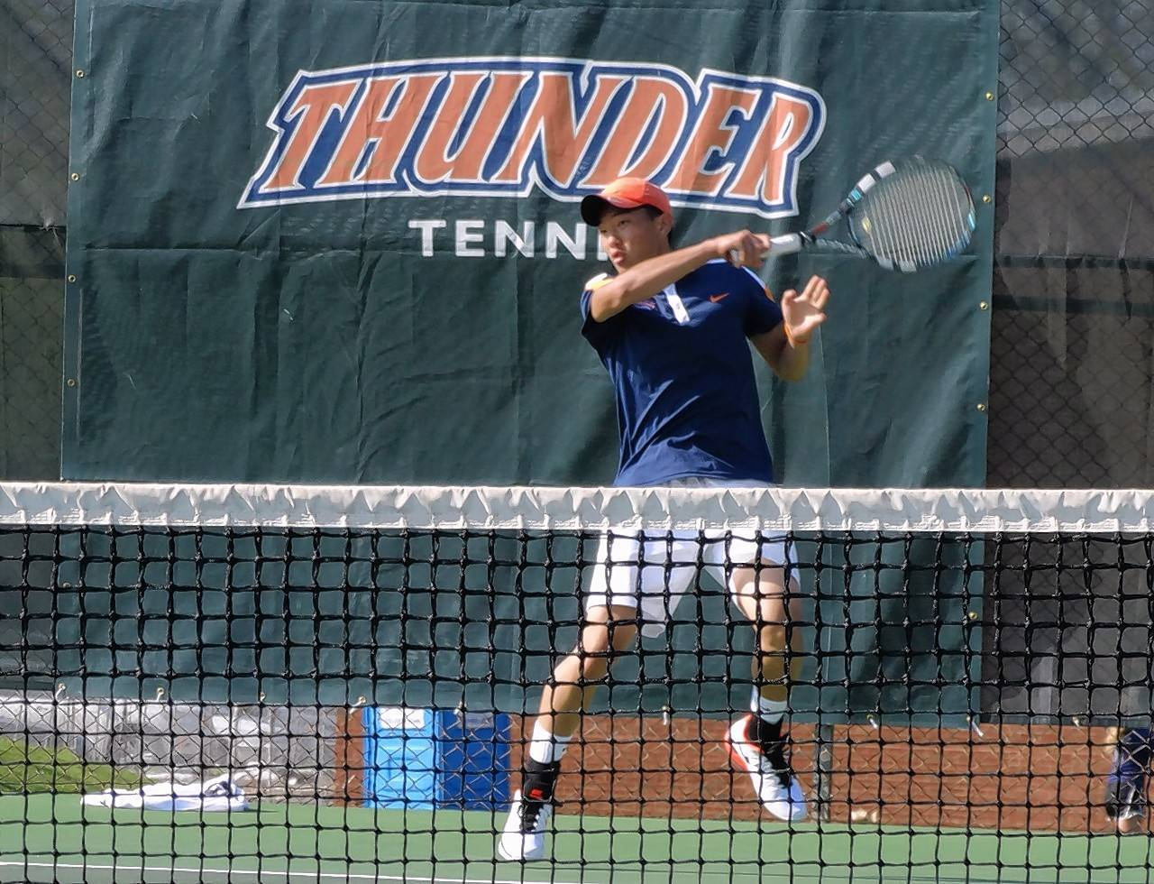 Stevenson grad Joshua Cheng is excelling in men's tennis at Wheaton College.