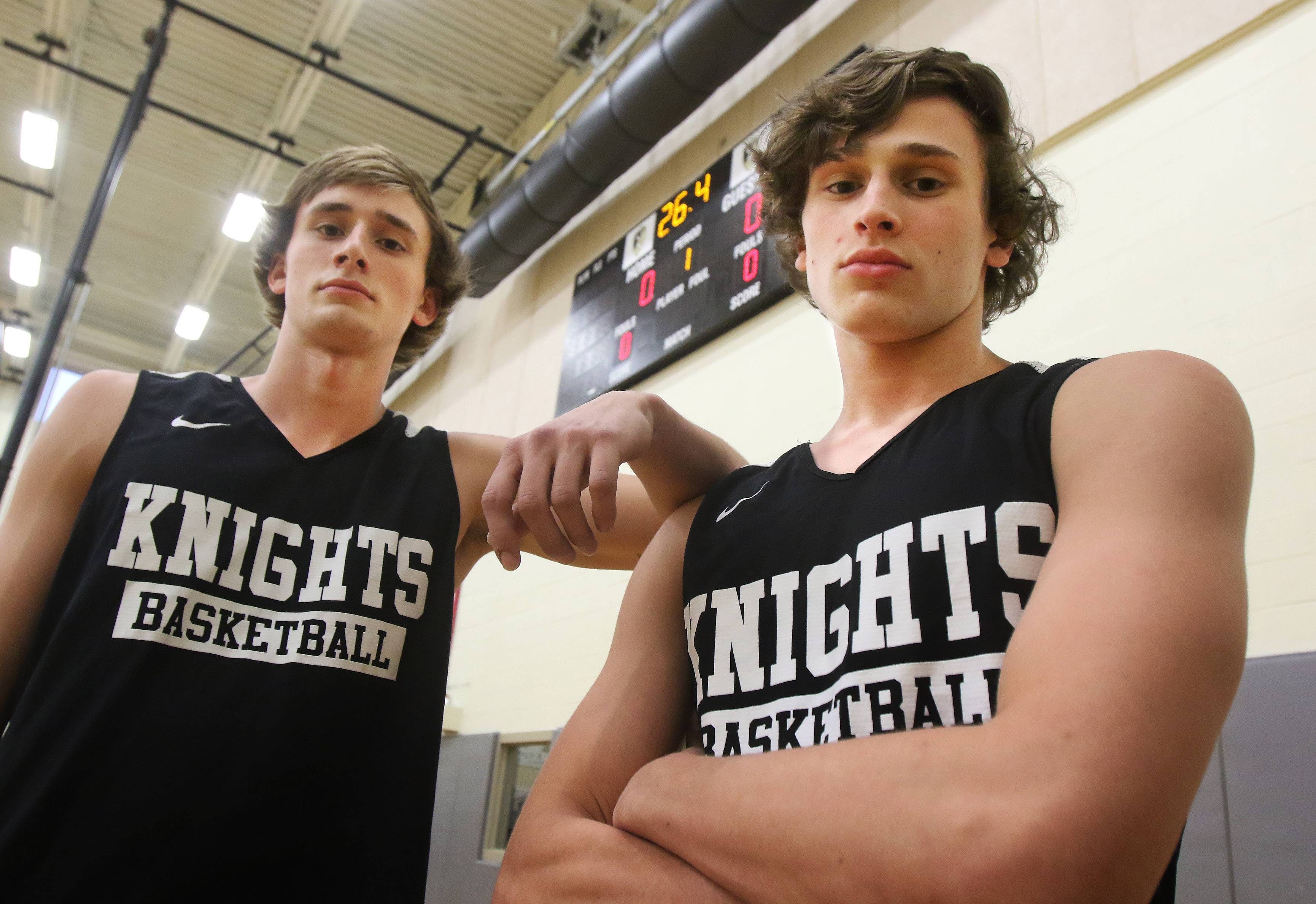 Brothers James, left, and Ryan Connolly make a formidable tandem for the Grayslake North boys basketball team.