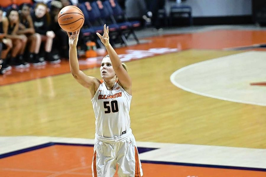 Huntley graduate Ali Andrews is having a breakout season as a sophomore on the University of Illinois' women's basketball team.
