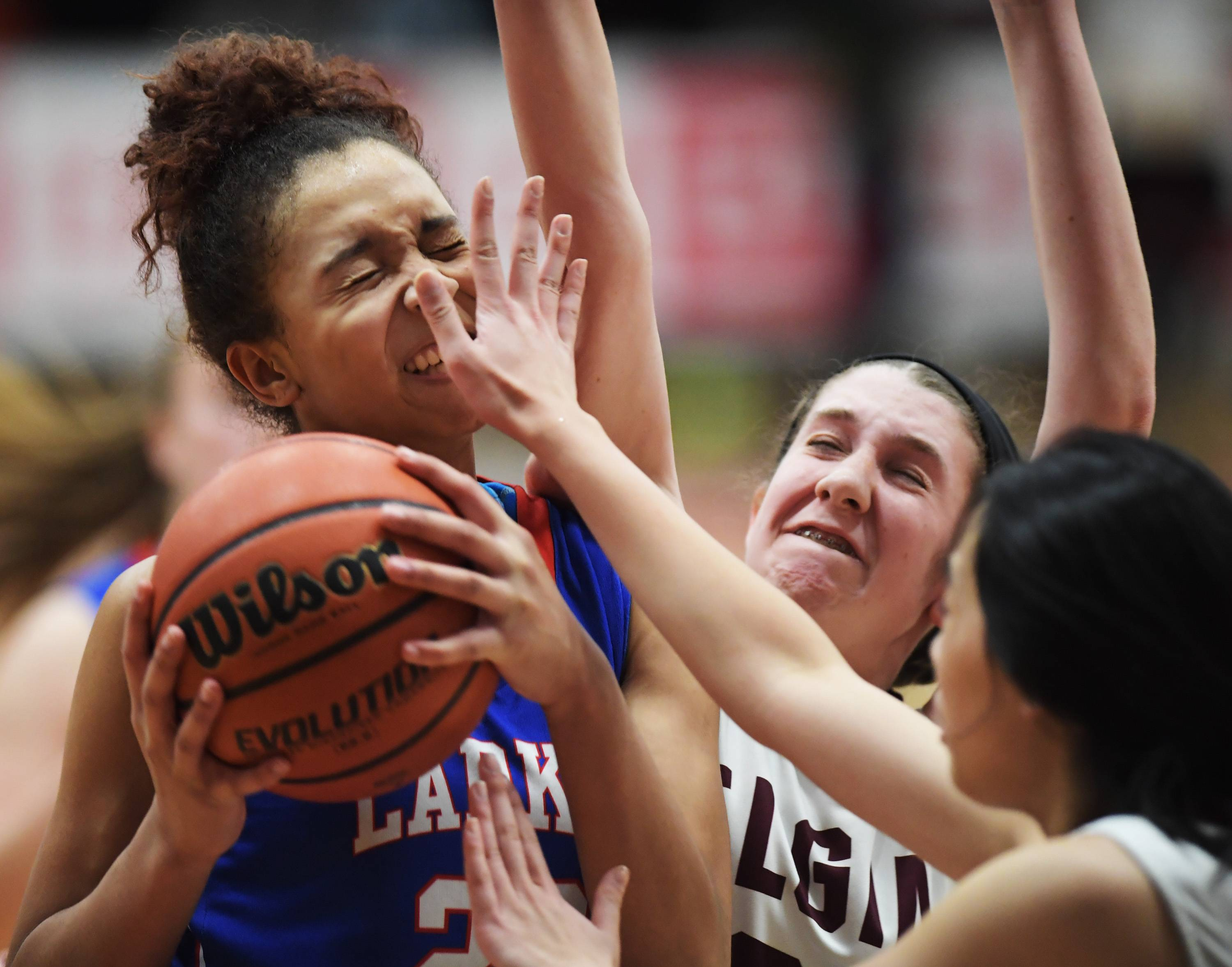 Images: Elgin vs. Larkin, girls and boys basketball