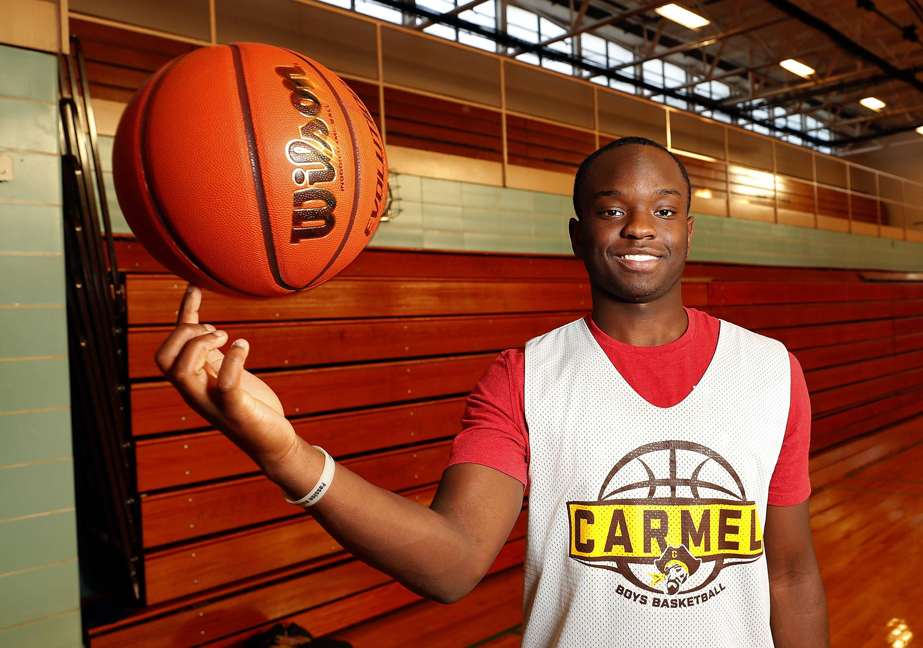 Damone Williams-Gray has helped Carmel Catholic's strong start to the boys basketball season after sitting out competition all last year after a transfer.