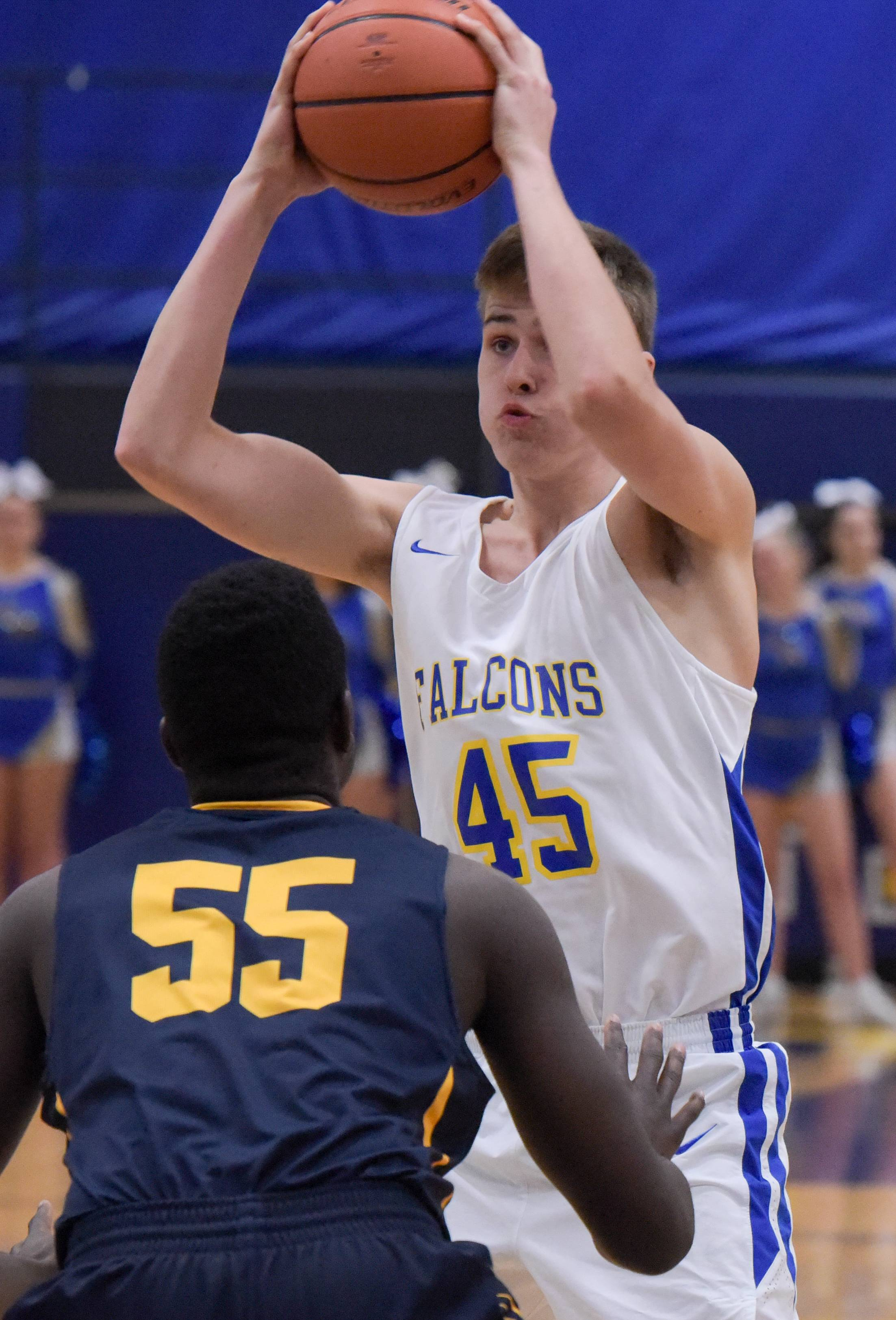 Wheaton North's Josh Sorenson (45) plays against Neuqua Valley on Dec. 12, 2017 in Wheaton.