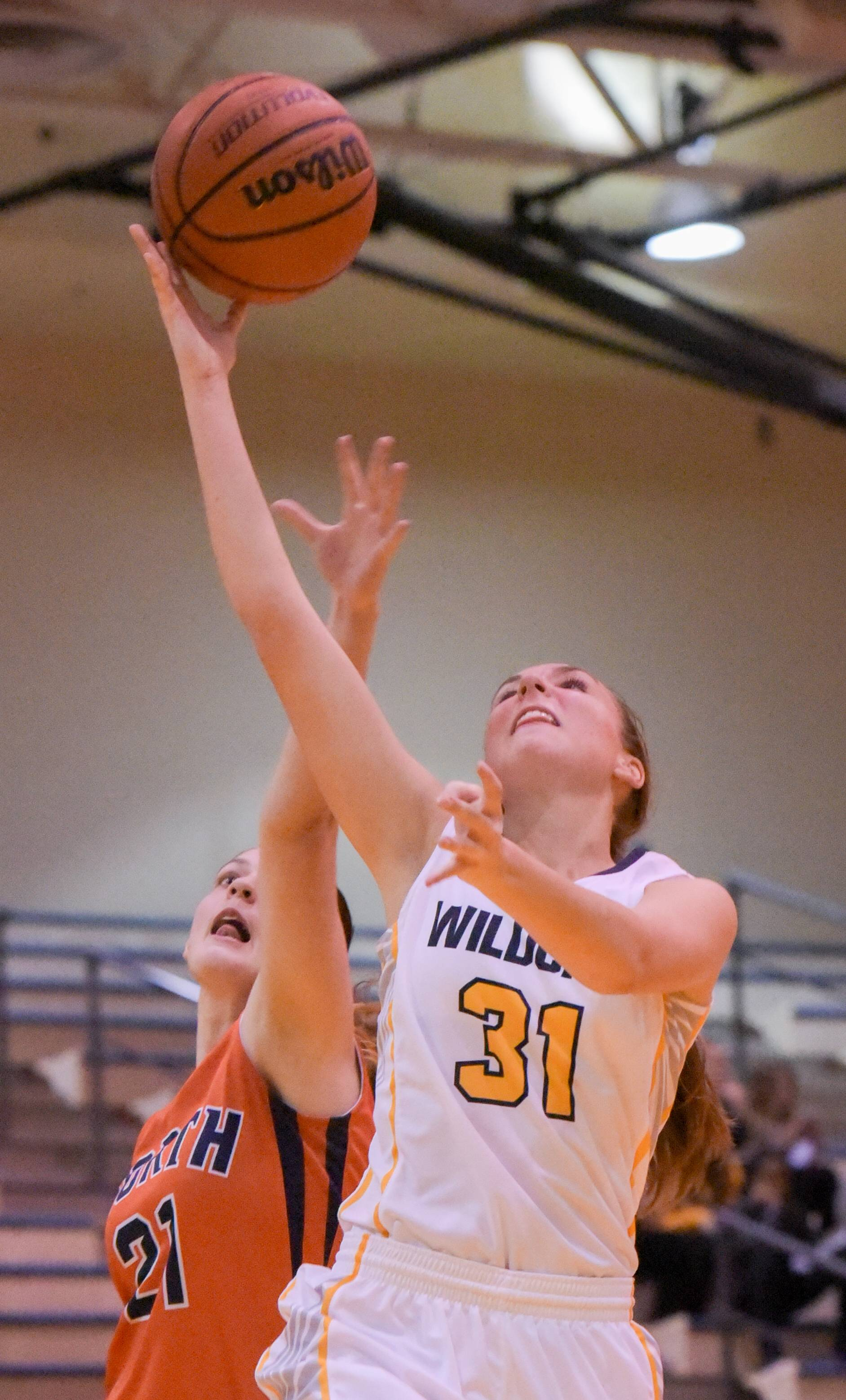 Neuqua Valley's Ashley Ishman after getting by Naperville North's Piper Fenner during girls basketball at on Wednesday, Jan. 10, 2018.