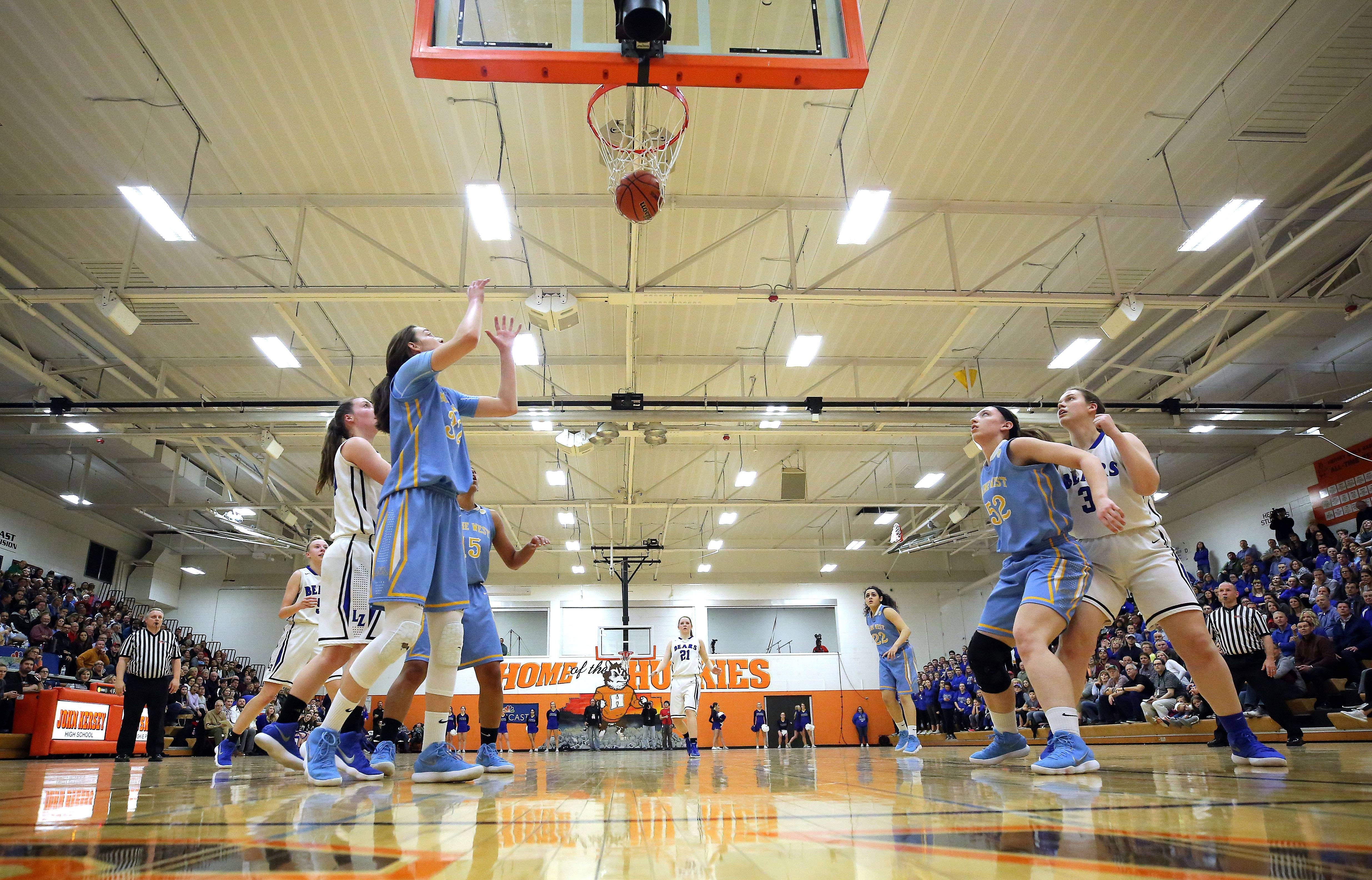 Maine West takes on Lake Zurich in the Class 4A supersectional at Hersey High School in Arlington Heights on Monday.