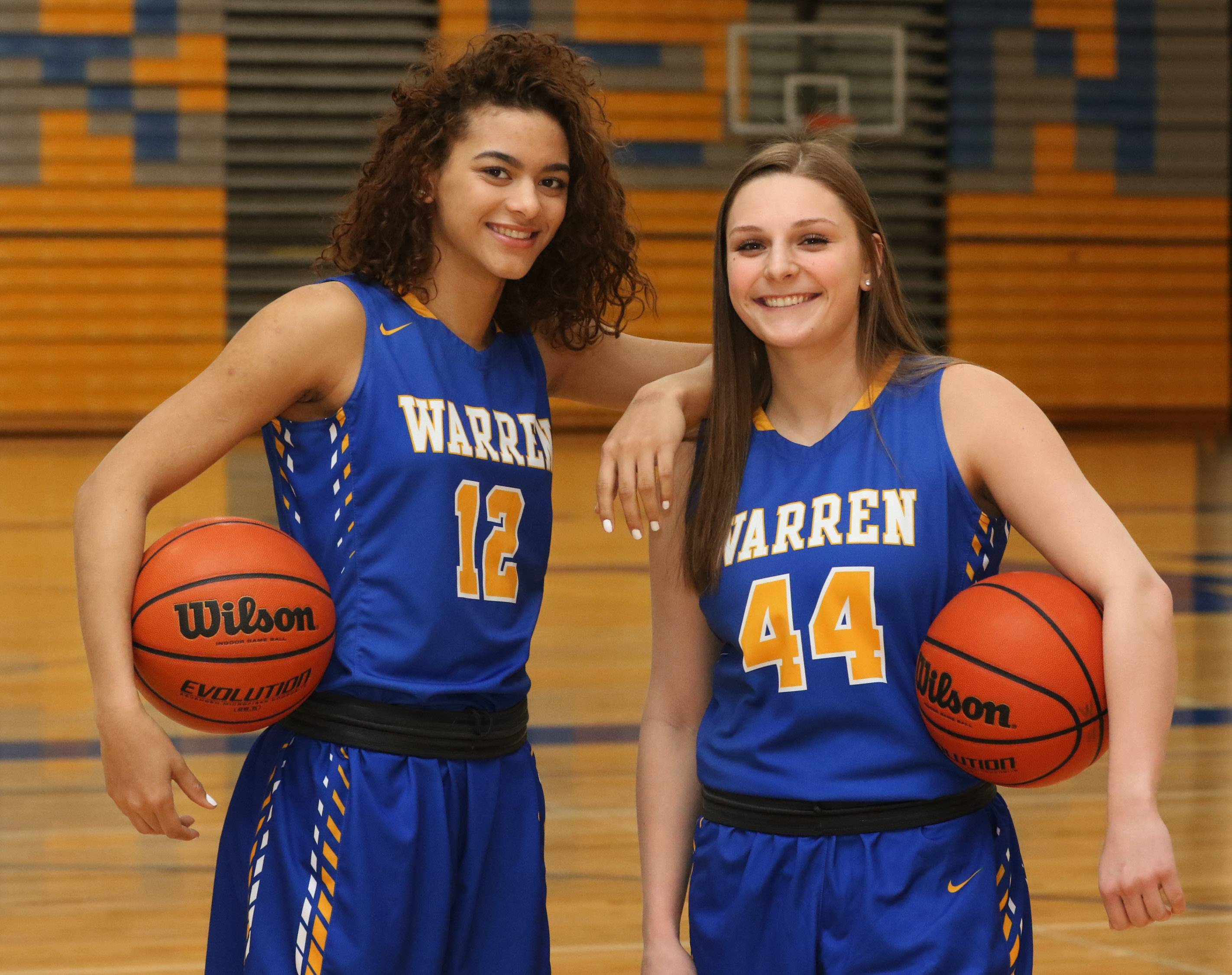 As seniors, Warren's Hughes and Dickson ruled