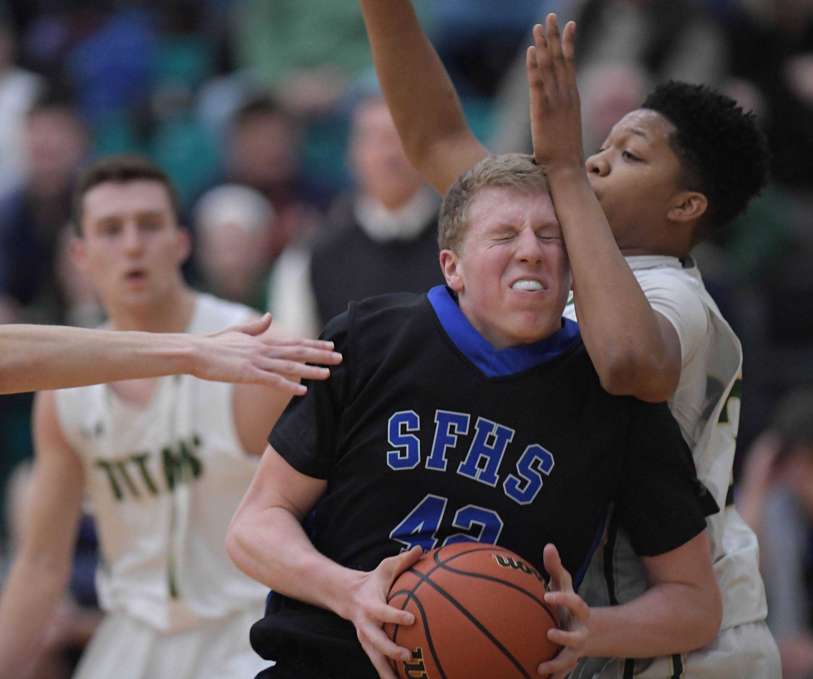 Images: St. Francis falls to Rockford Boylan, 51-47 in Class 3A boys sectional semifinal basketball